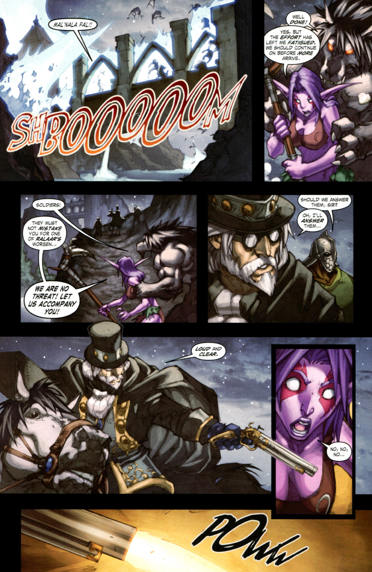 Read online World of Warcraft: Curse of the Worgen comic -  Issue #4 - 23
