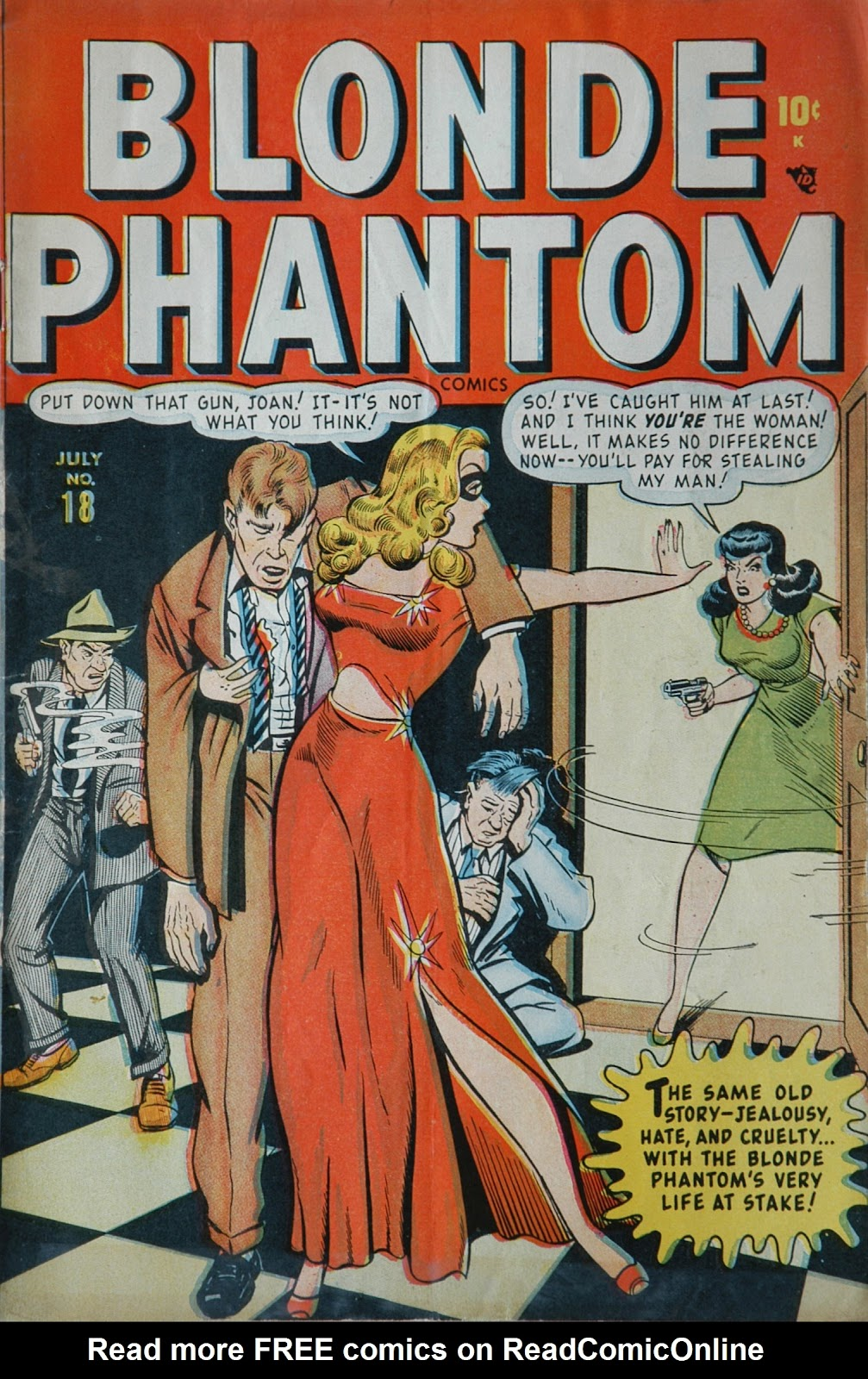 Blonde Phantom Comics 18 Page 1