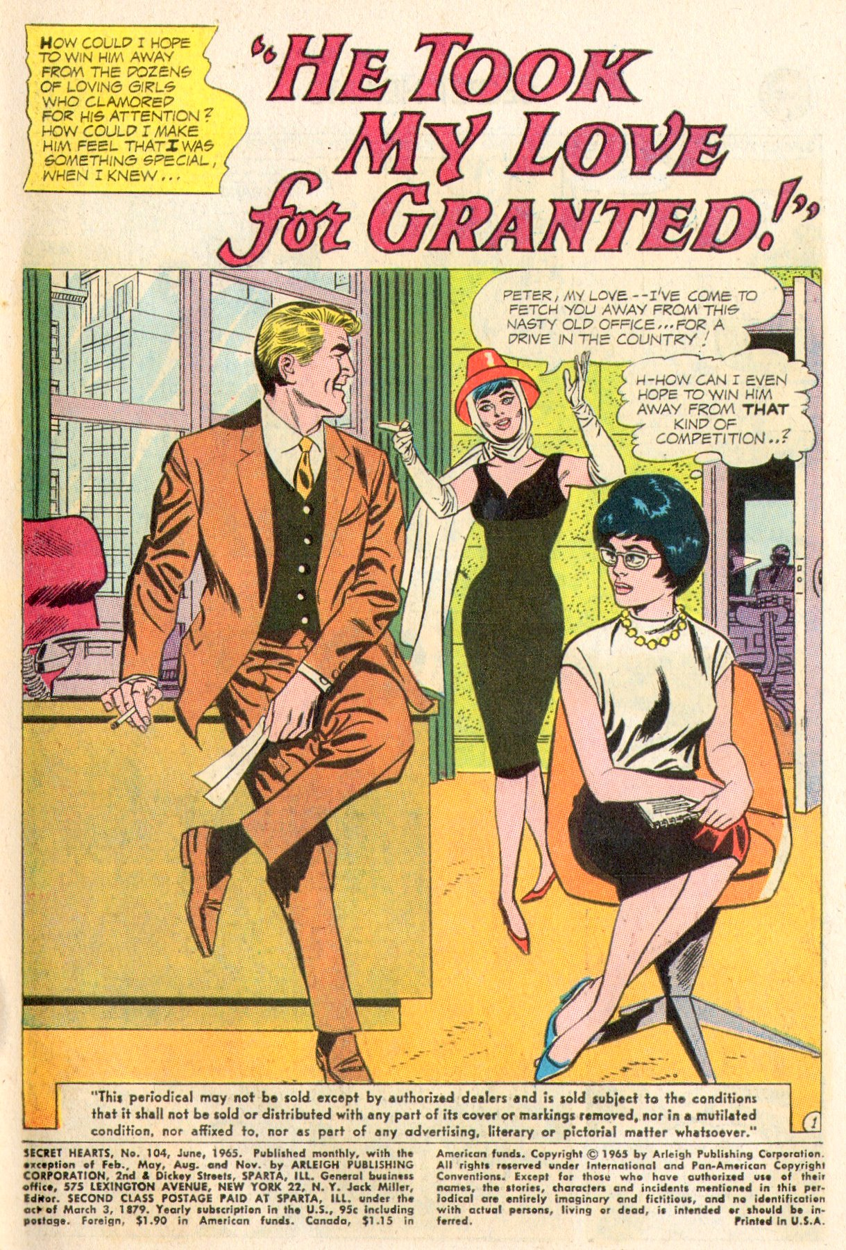 Read online Secret Hearts comic -  Issue #104 - 3