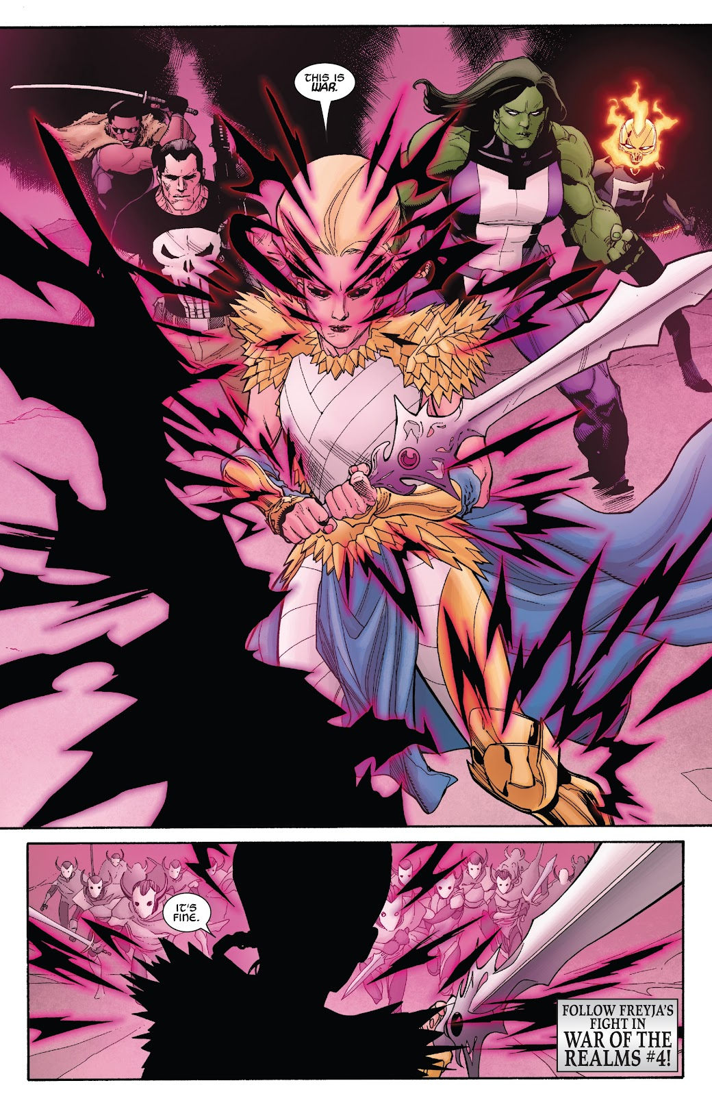 Read online War Of The Realms Strikeforce comic -  Issue # The Dark Elf Realm - 32