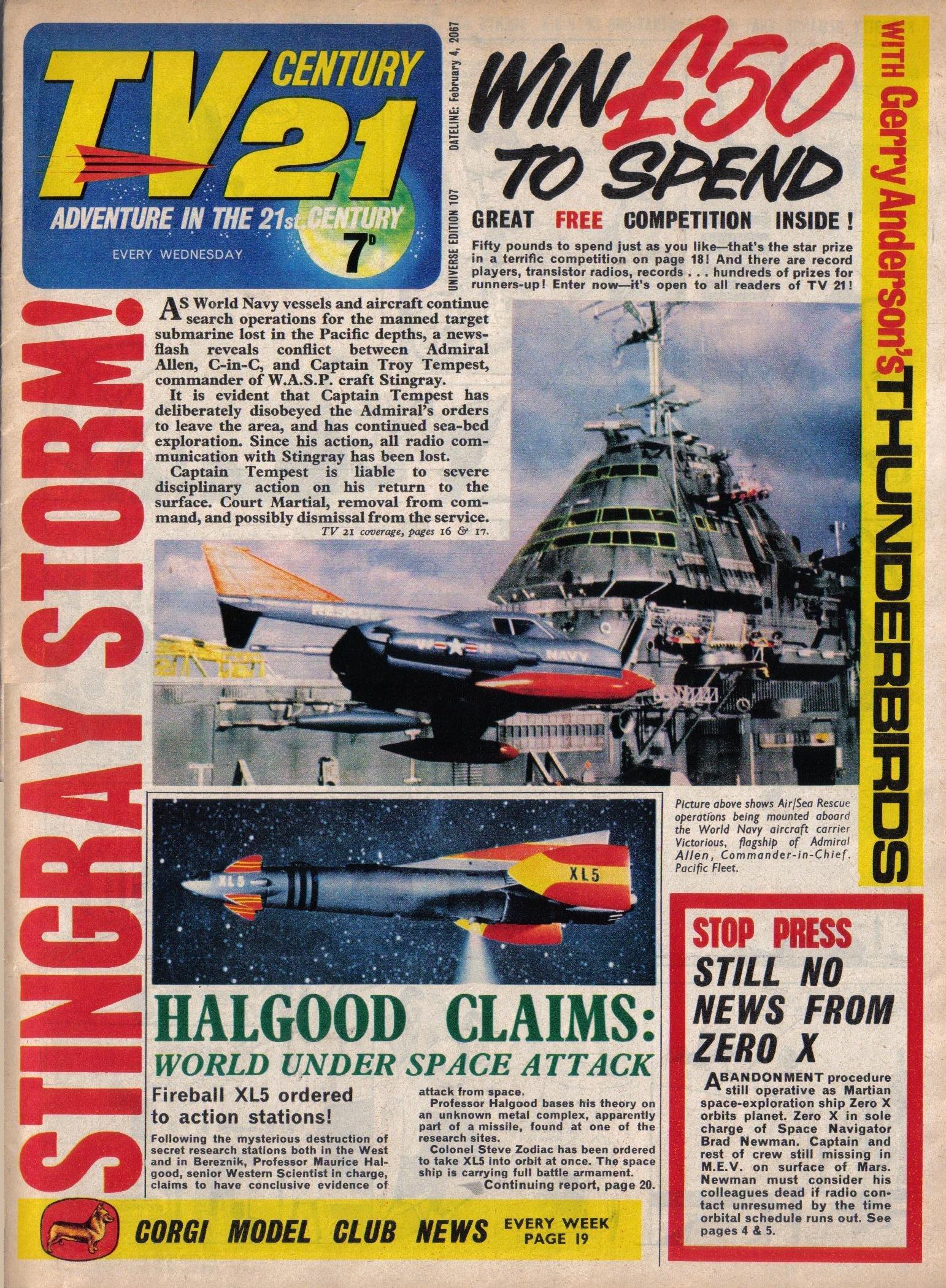 Read online TV Century 21 (TV 21) comic -  Issue #107 - 1