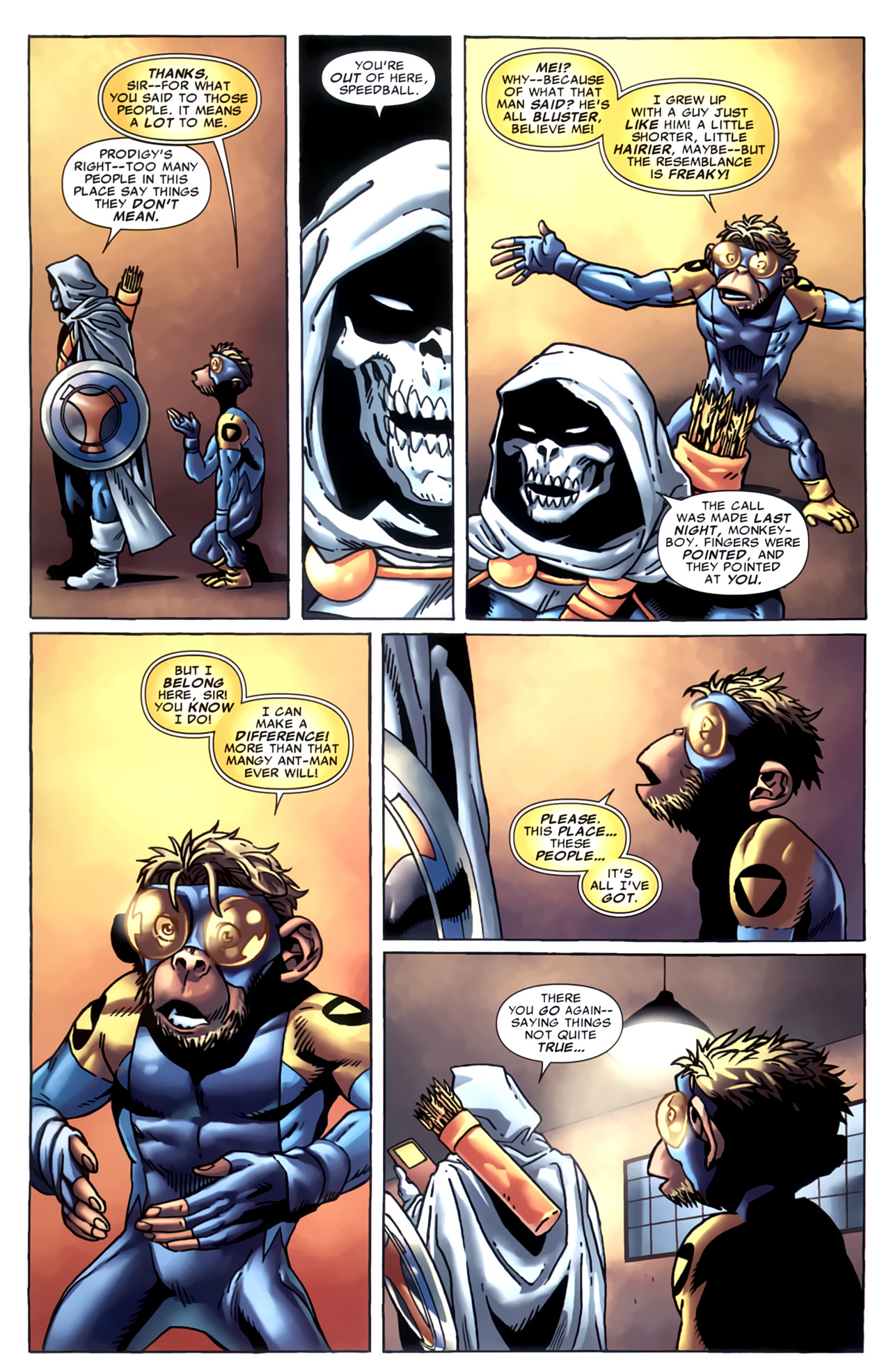 Read online Marvel Apes: Speedball Special comic -  Issue # Full - 14