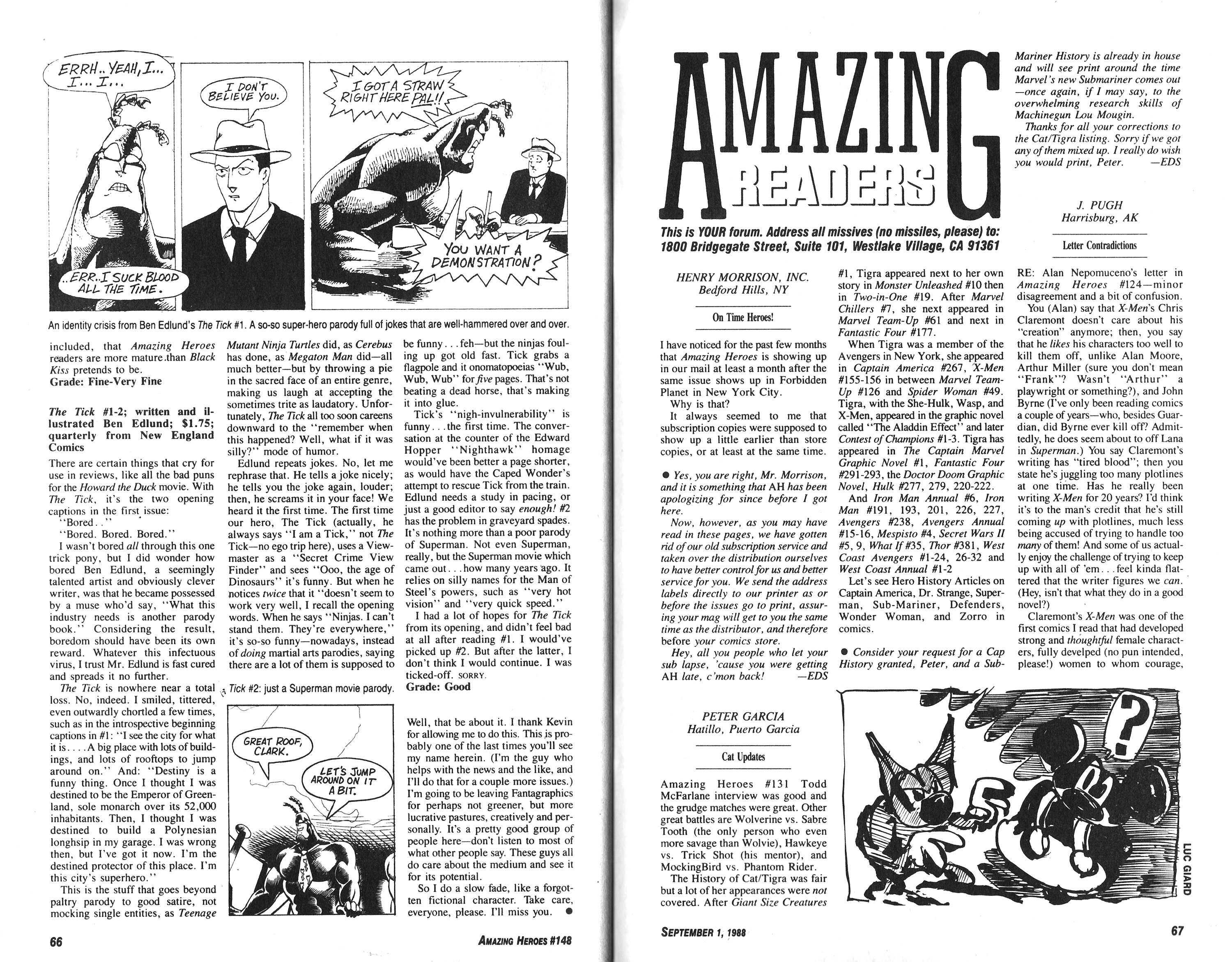 Read online Amazing Heroes comic -  Issue #148 - 34