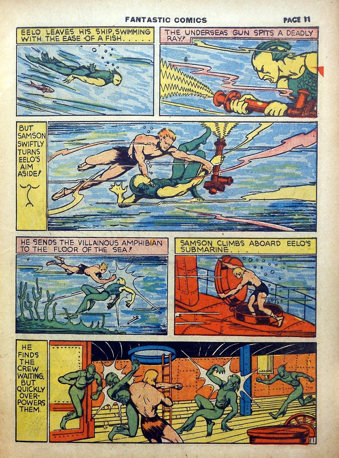 Read online Fantastic Comics comic -  Issue #5 - 12