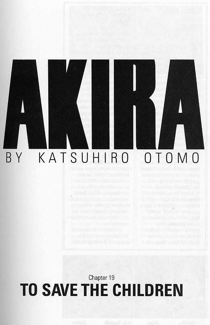 Read online Akira comic -  Issue #19 - 4