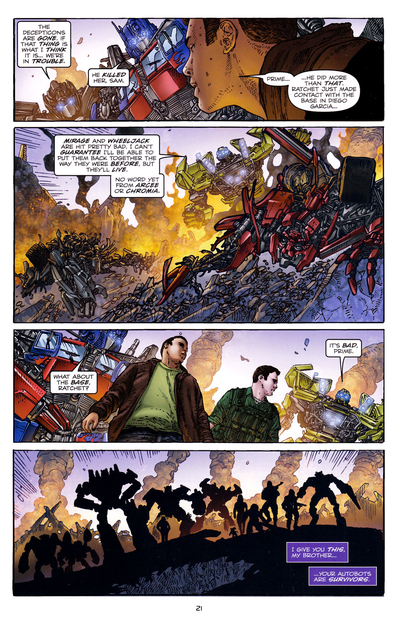 Read online Transformers: Dark of the Moon Rising Storm comic -  Issue #4 - 22