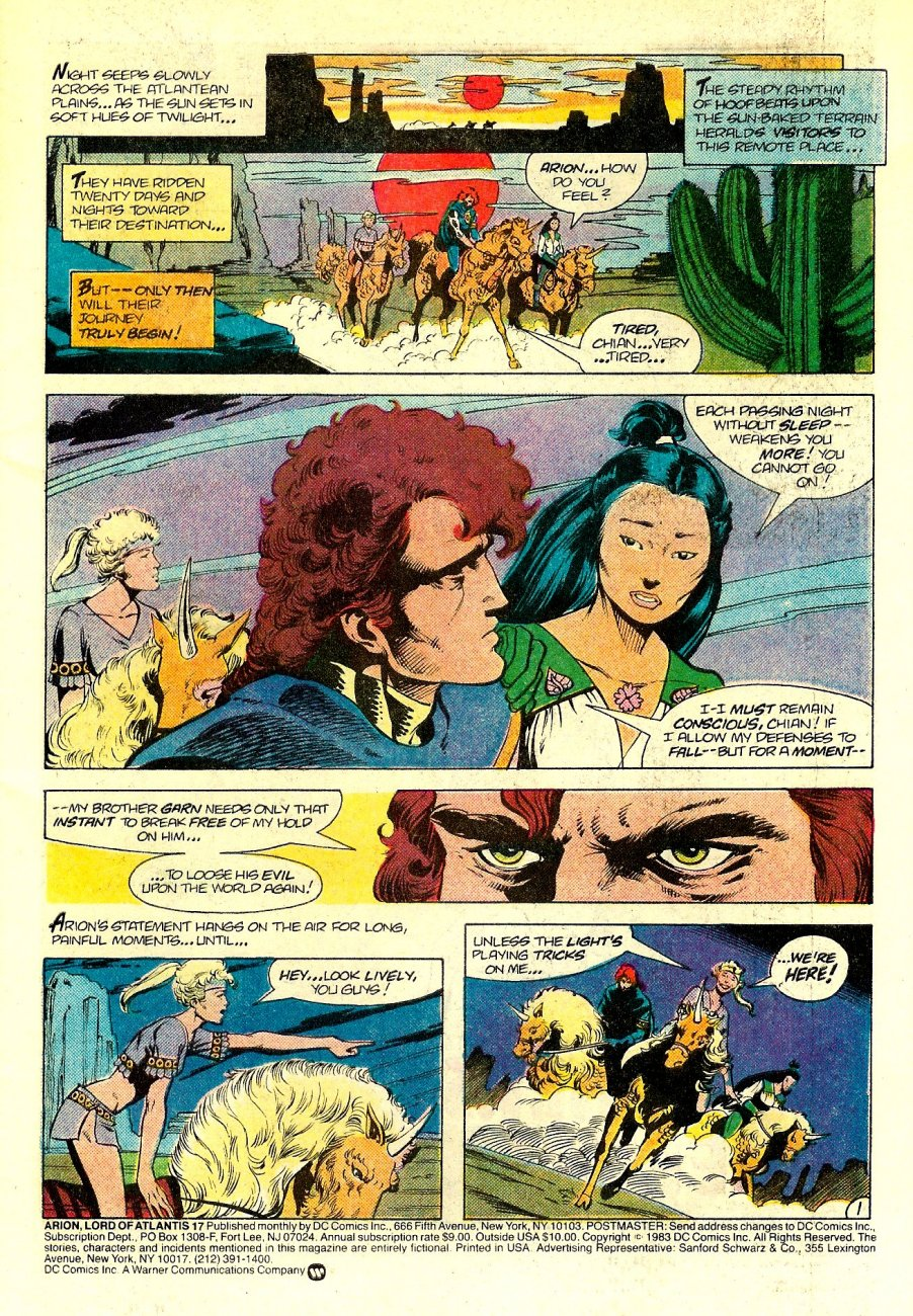 Read online Arion, Lord of Atlantis comic -  Issue #17 - 2