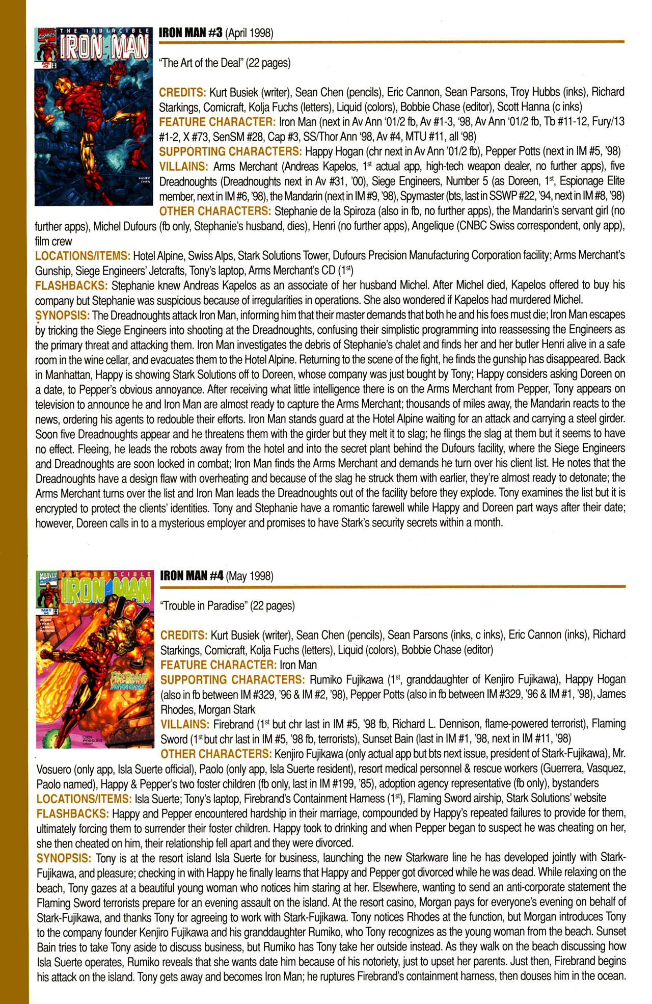 Read online Official Index to the Marvel Universe comic -  Issue #10 - 28