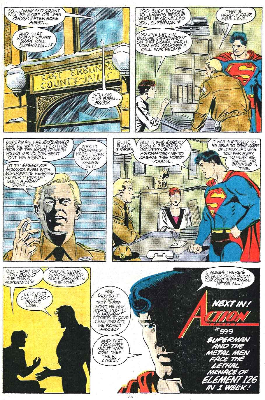 Read online Adventures of Superman (1987) comic -  Issue #439 - 24