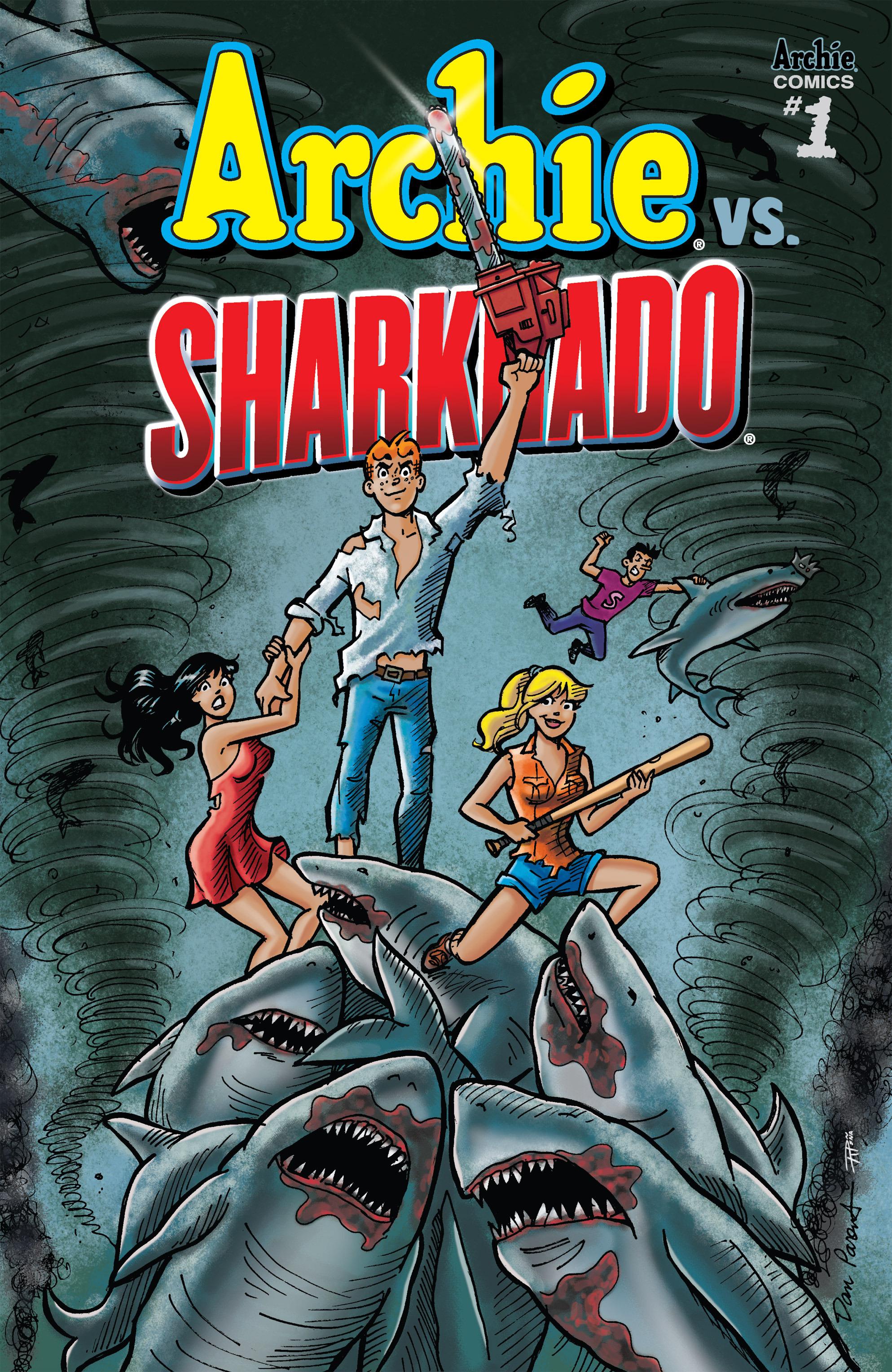 Read online Archie vs. Sharknado comic -  Issue #Archie vs. Sharknado Full - 1
