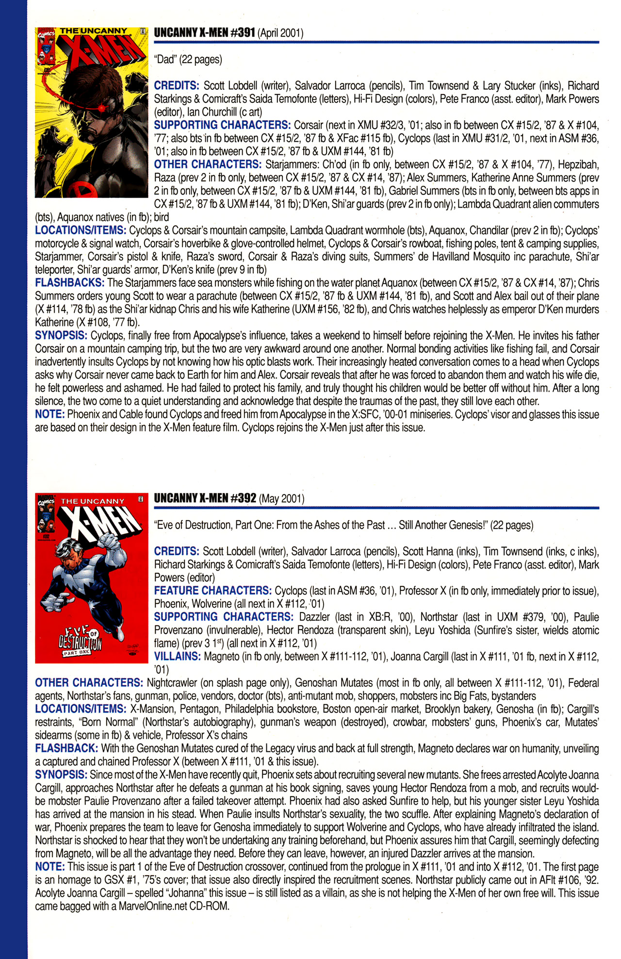 Read online Official Index to the Marvel Universe comic -  Issue #10 - 56