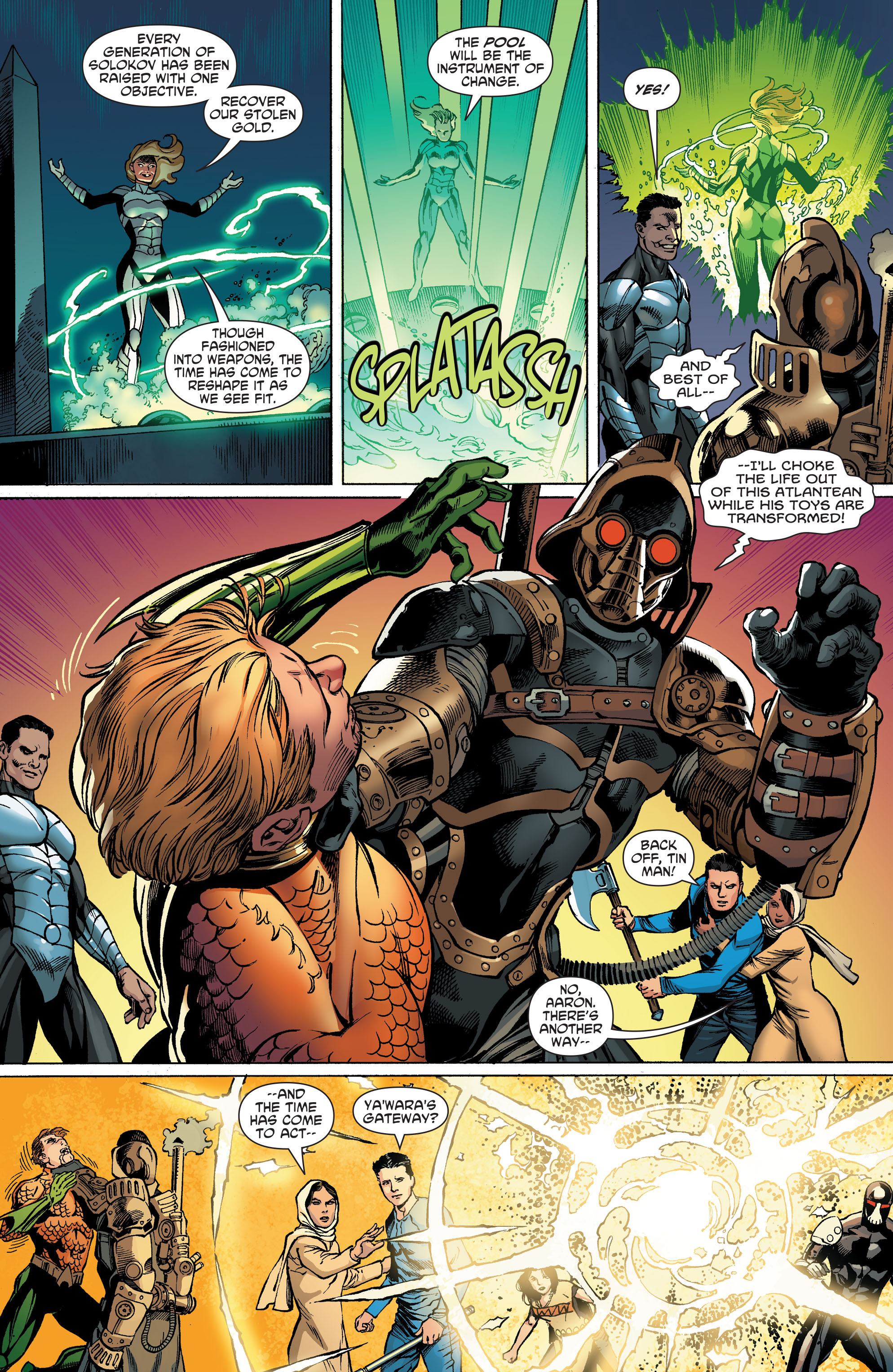 Read online Aquaman and the Others comic -  Issue #5 - 8