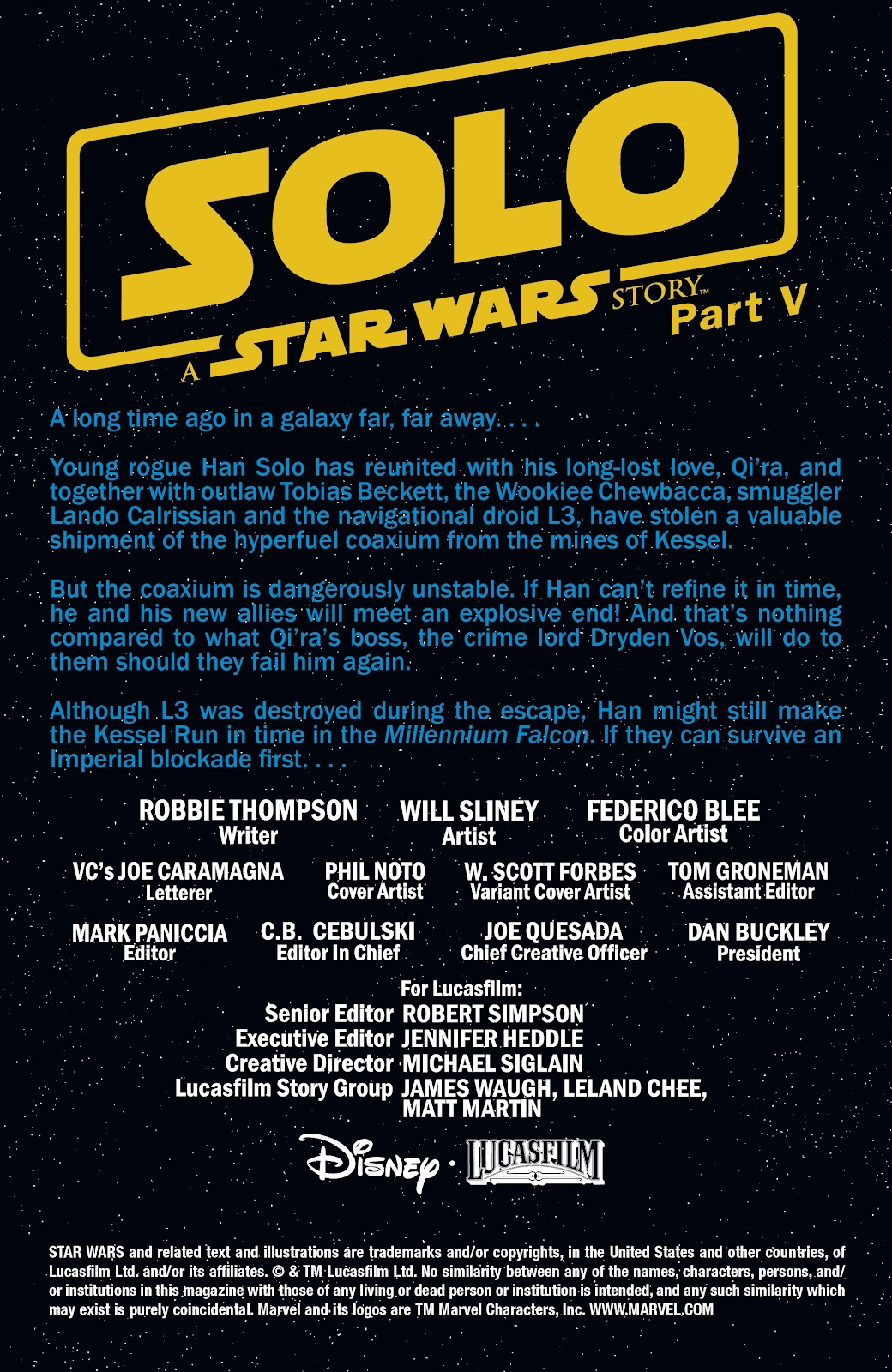 Read online Solo: A Star Wars Story Adaptation comic -  Issue #5 - 2