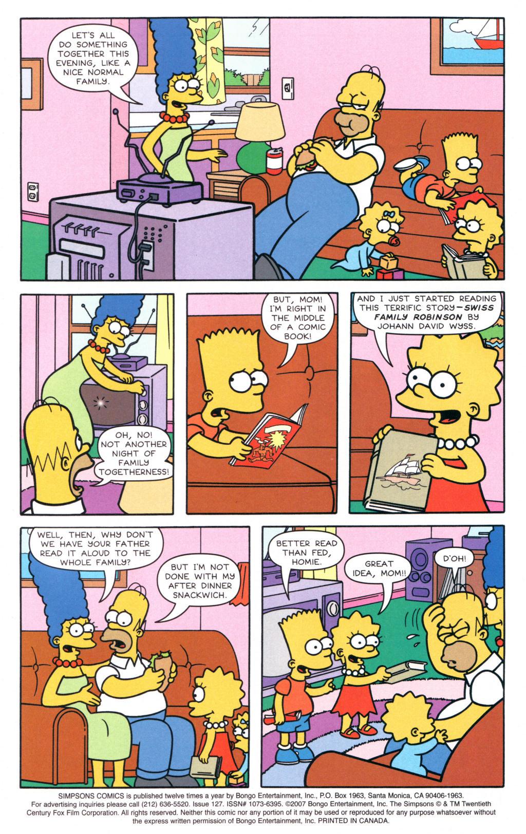 Read online Simpsons Comics comic -  Issue #127 - 2