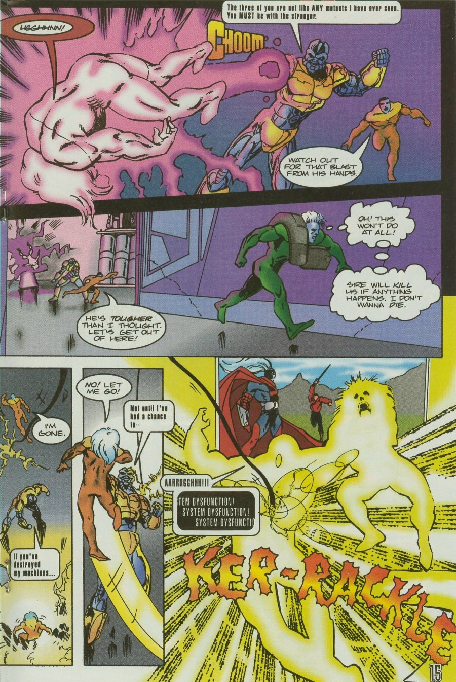 Read online Ex-Mutants comic -  Issue #11 - 18