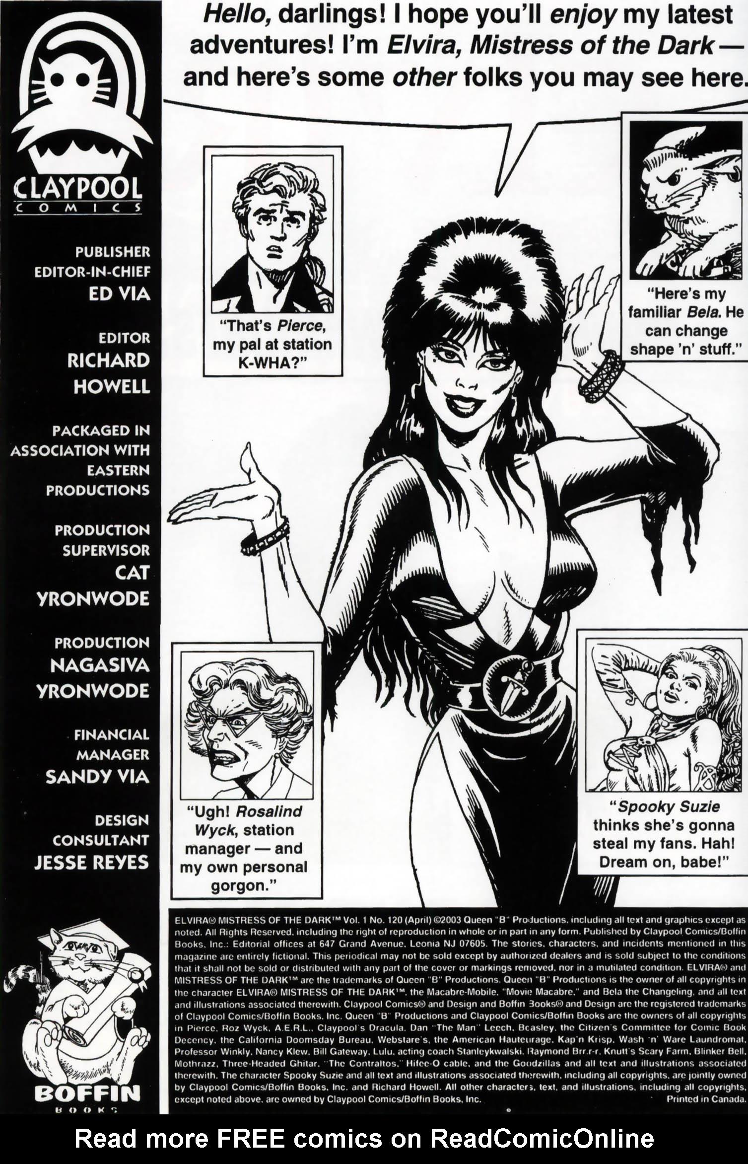 Read online Elvira, Mistress of the Dark comic -  Issue #120 - 2