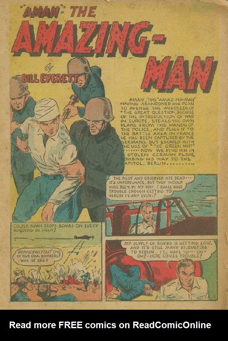 Read online Amazing Man Comics comic -  Issue #9 - 4