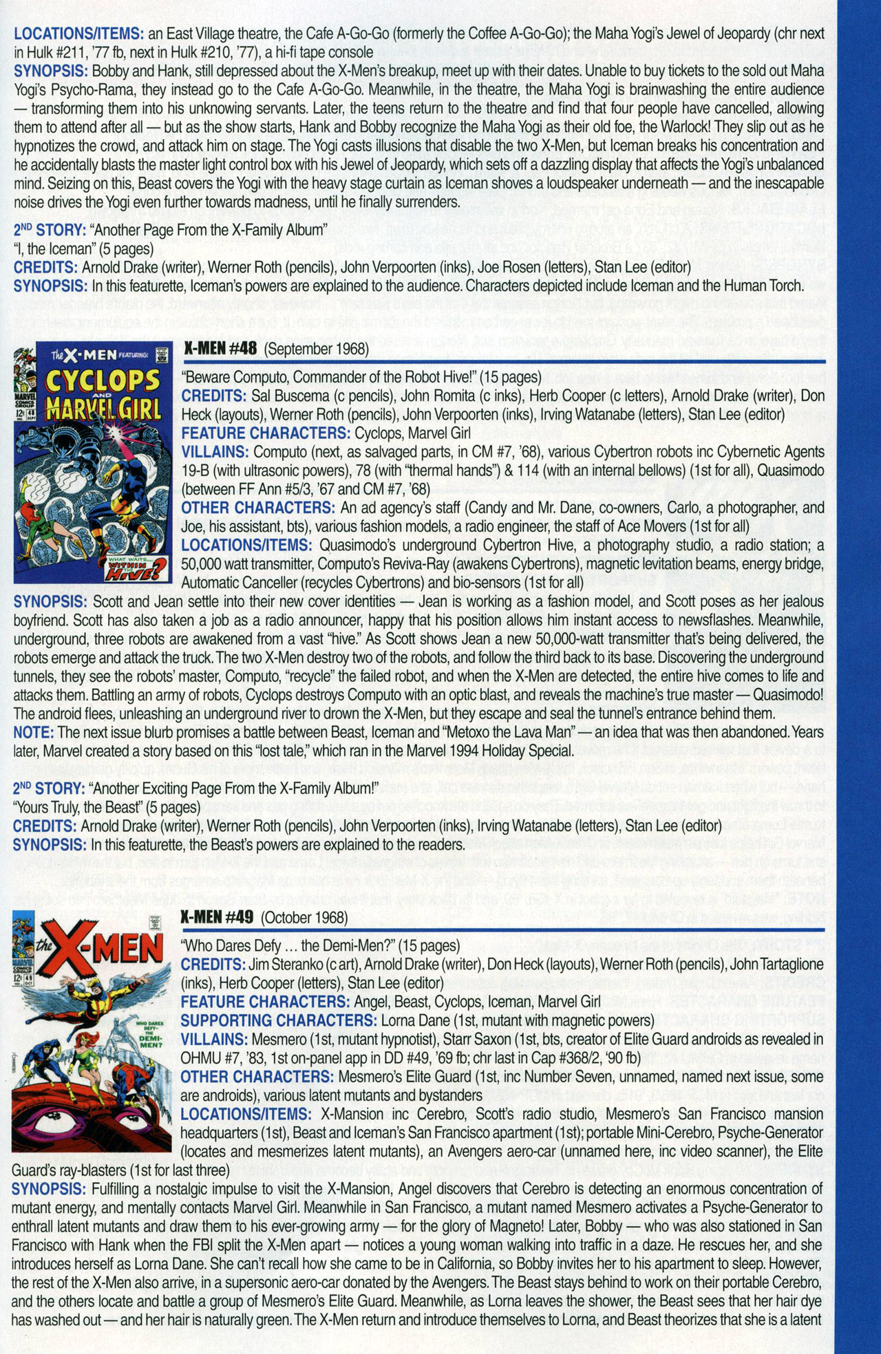 Read online Official Index to the Marvel Universe comic -  Issue #1 - 65