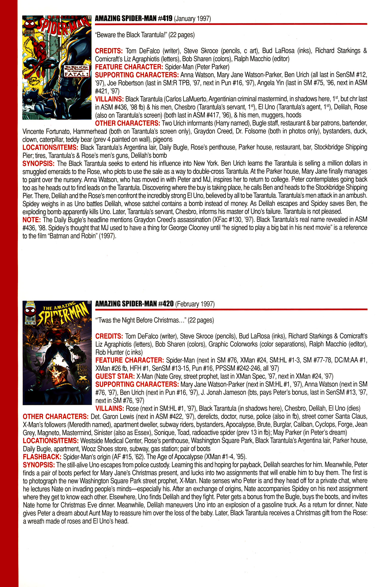 Read online Official Index to the Marvel Universe comic -  Issue #10 - 14