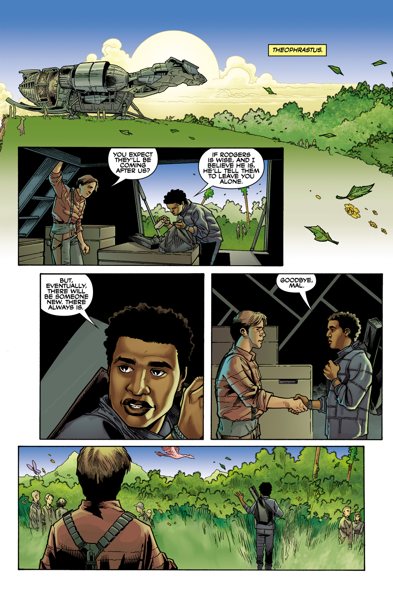 Read online Serenity: Firefly Class 03-K64  Leaves on the Wind comic -  Issue #6 - 19