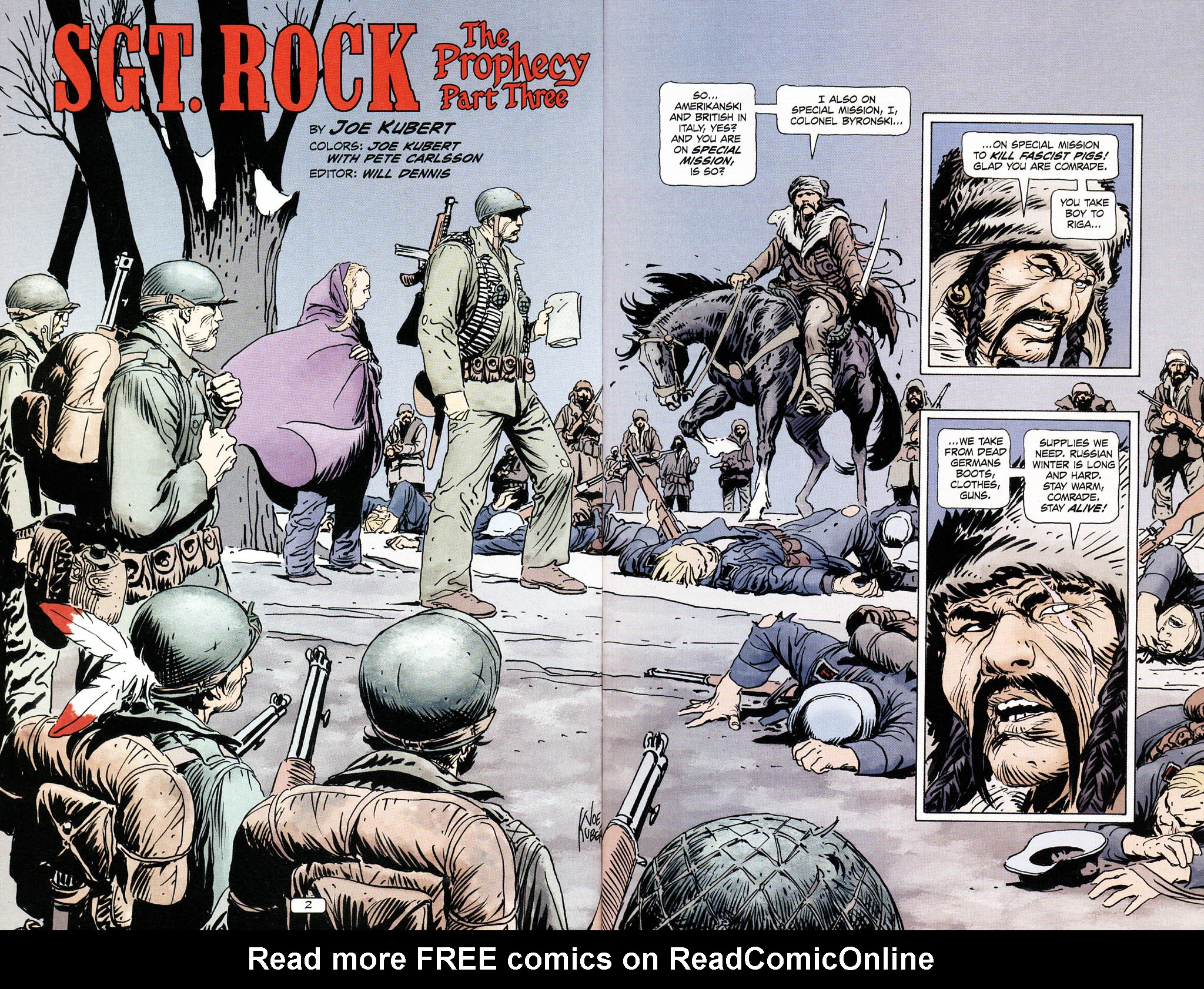 Read online Sgt. Rock: The Prophecy comic -  Issue #3 - 4