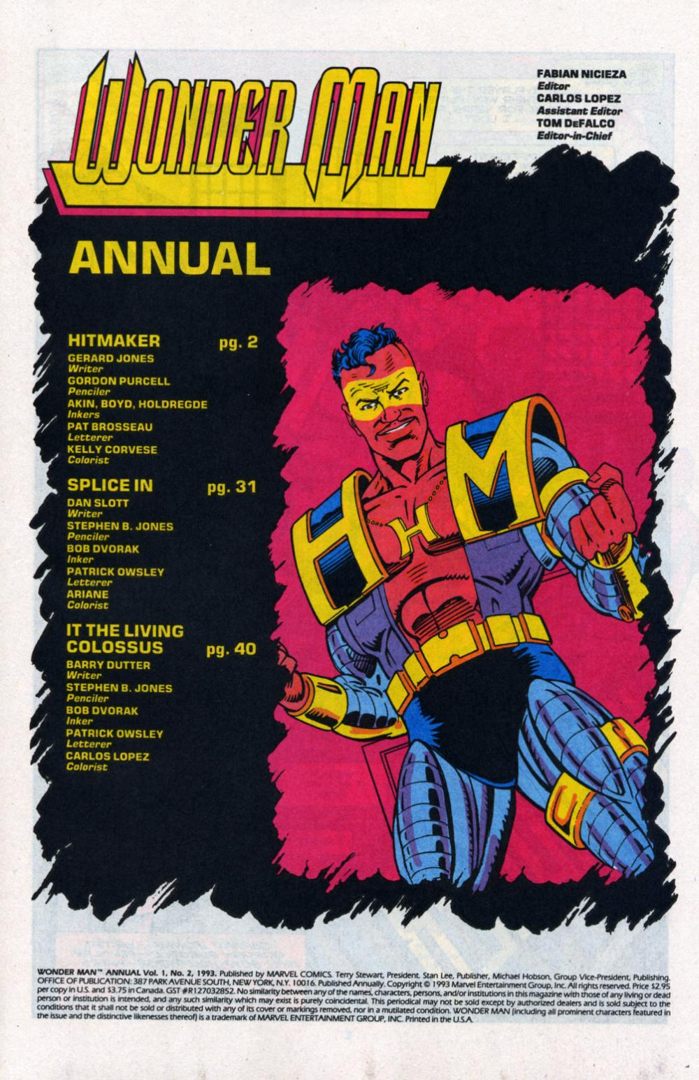 Read online Wonder Man (1991) comic -  Issue # _Annual 2 - 2
