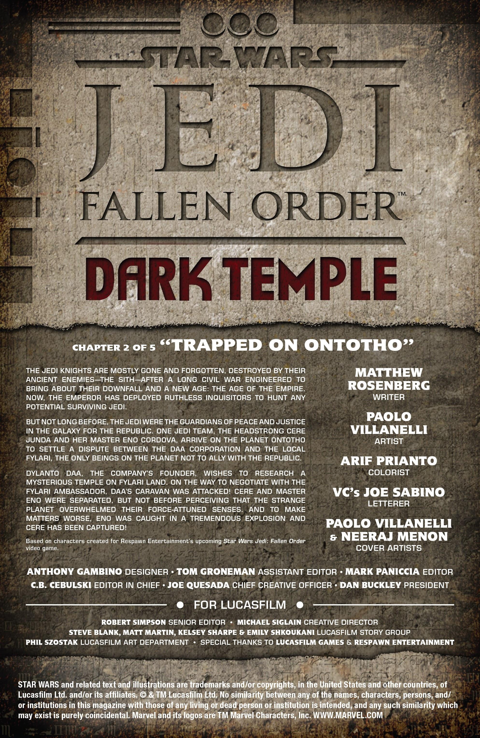 Star Wars: Jedi Fallen Order–Dark Temple 2 Page 2