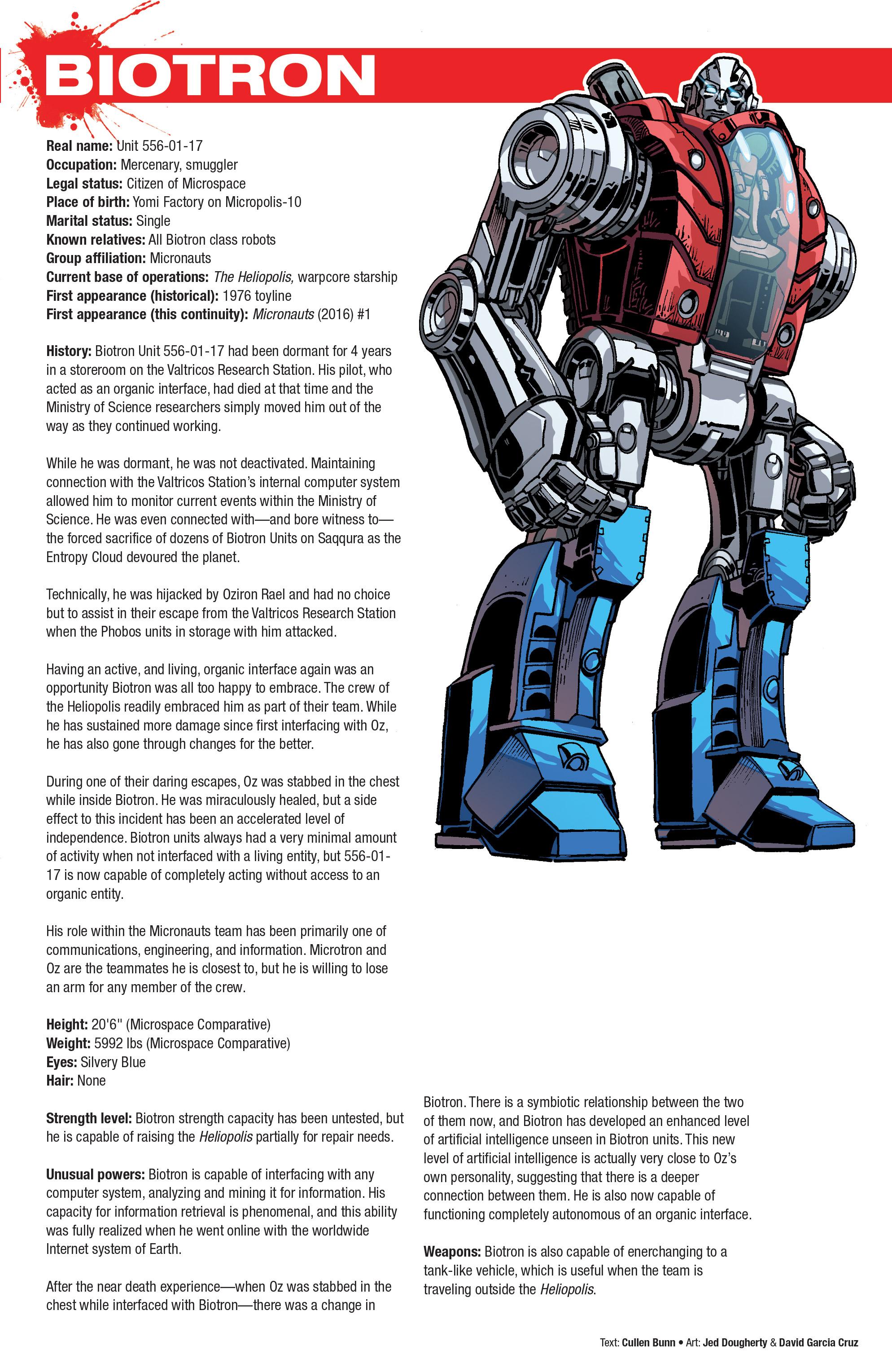 Read online Hasbro Heroes Sourcebook comic -  Issue #1 - 19
