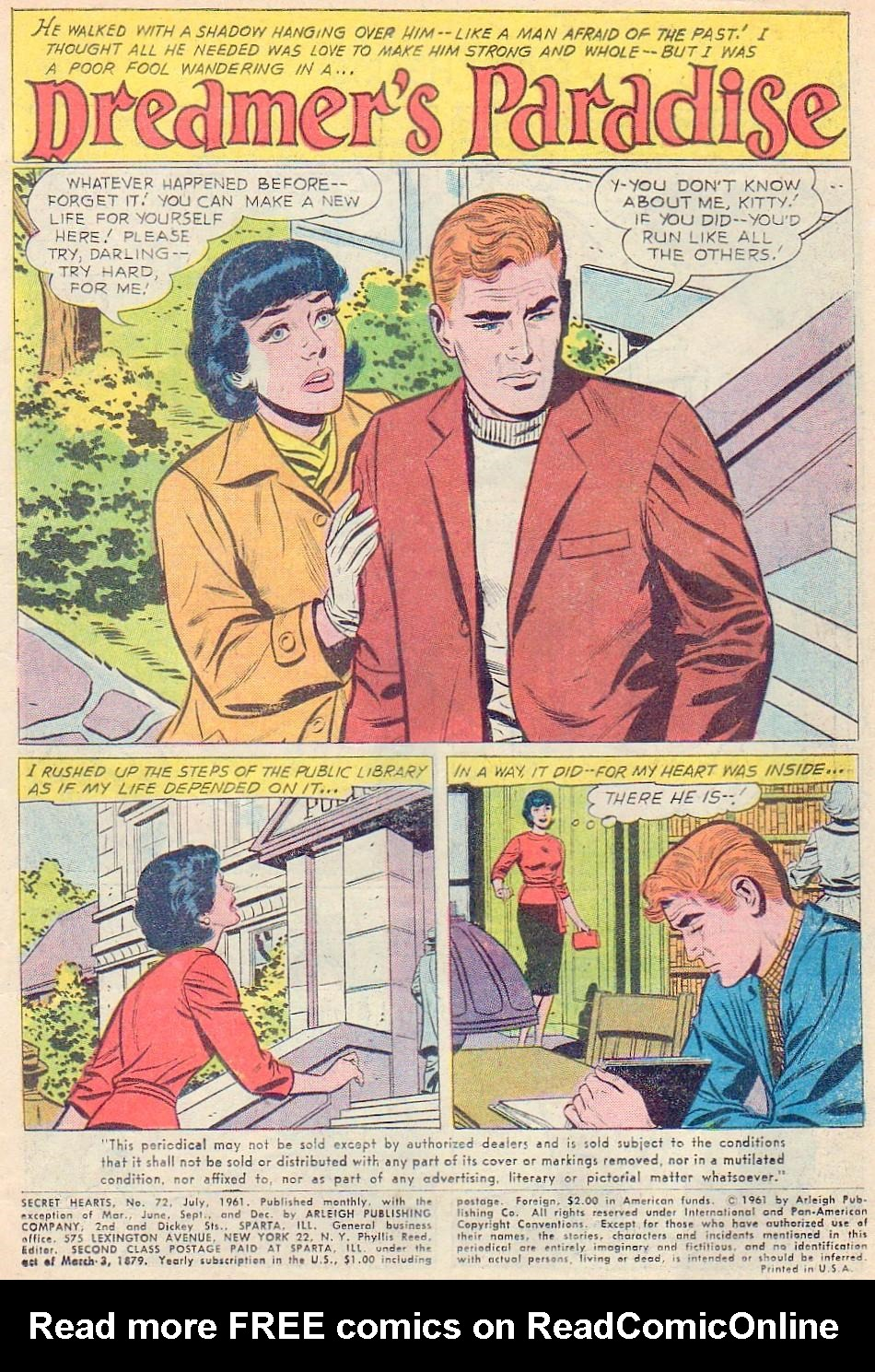 Read online Secret Hearts comic -  Issue #72 - 3