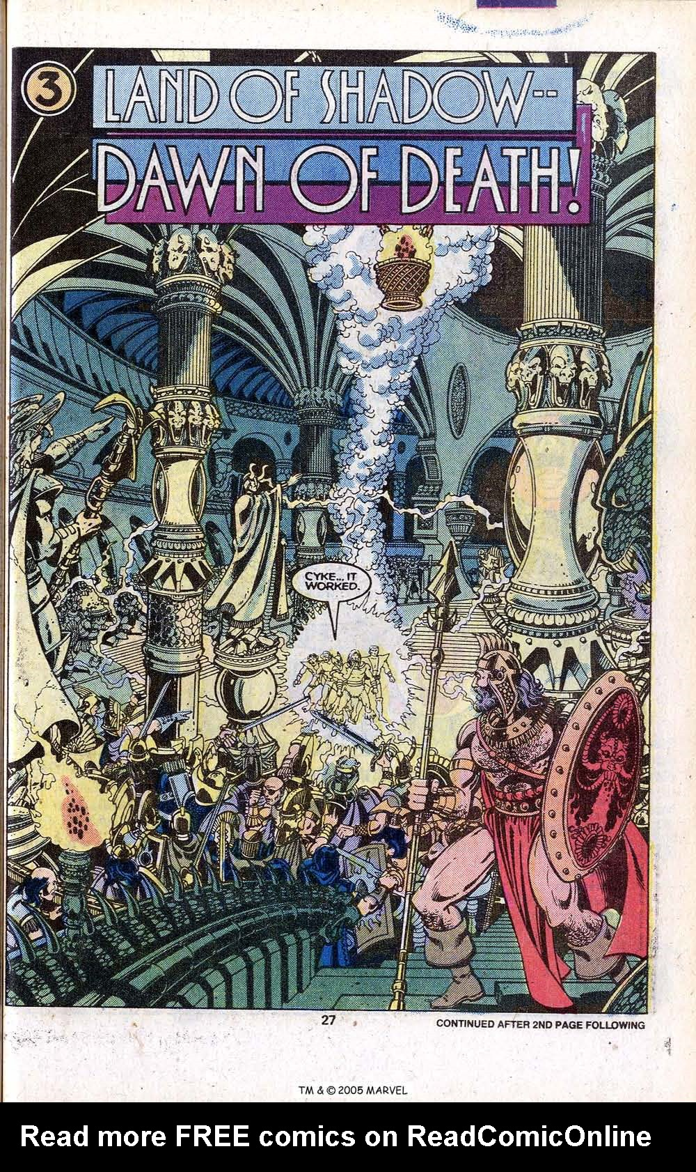 Read online Uncanny X-Men (1963) comic -  Issue # _Annual 3 - 29