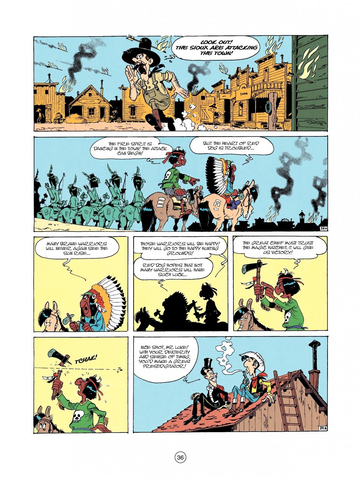 Read online A Lucky Luke Adventure comic -  Issue #37 - 36