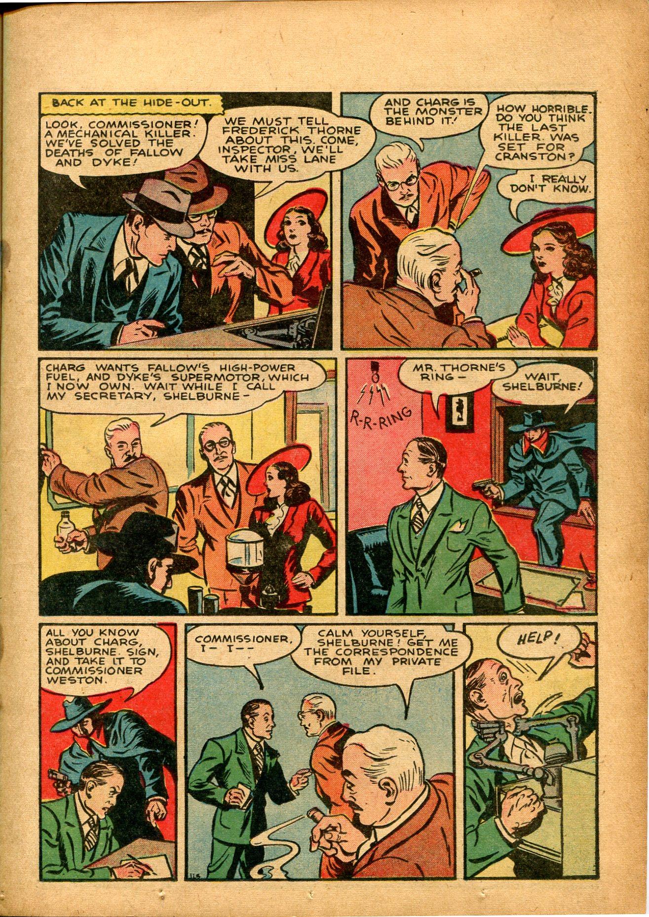 Read online Shadow Comics comic -  Issue #8 - 21