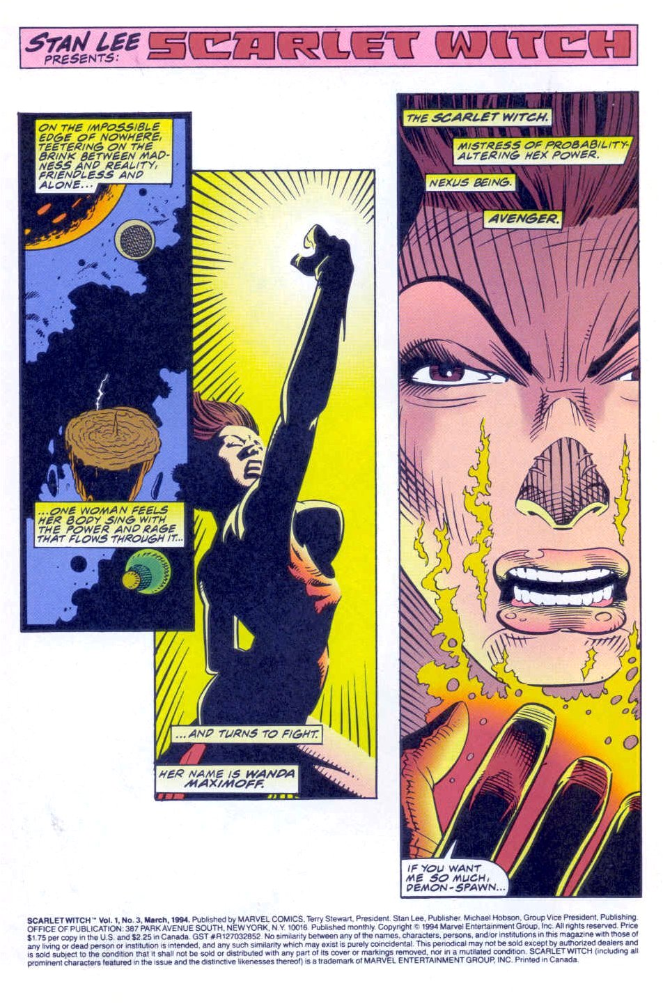 Scarlet Witch (1994) Issue #3 #3 - English 3