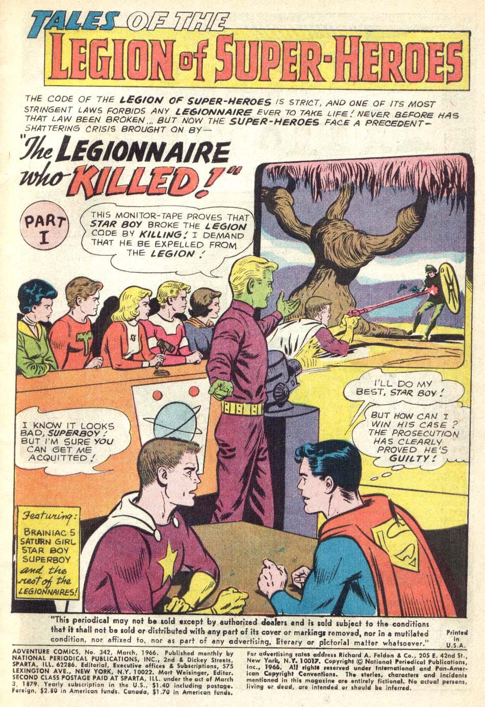 Read online Adventure Comics (1938) comic -  Issue #342 - 3