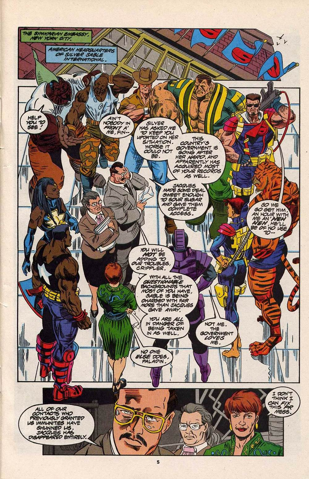 Read online Silver Sable and the Wild Pack comic -  Issue #30 - 6