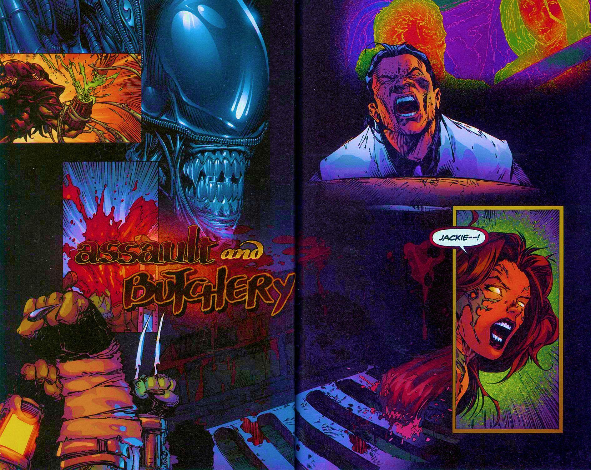 Read online Overkill: Witchblade/Aliens/Darkness/Predator comic -  Issue #2 - 8