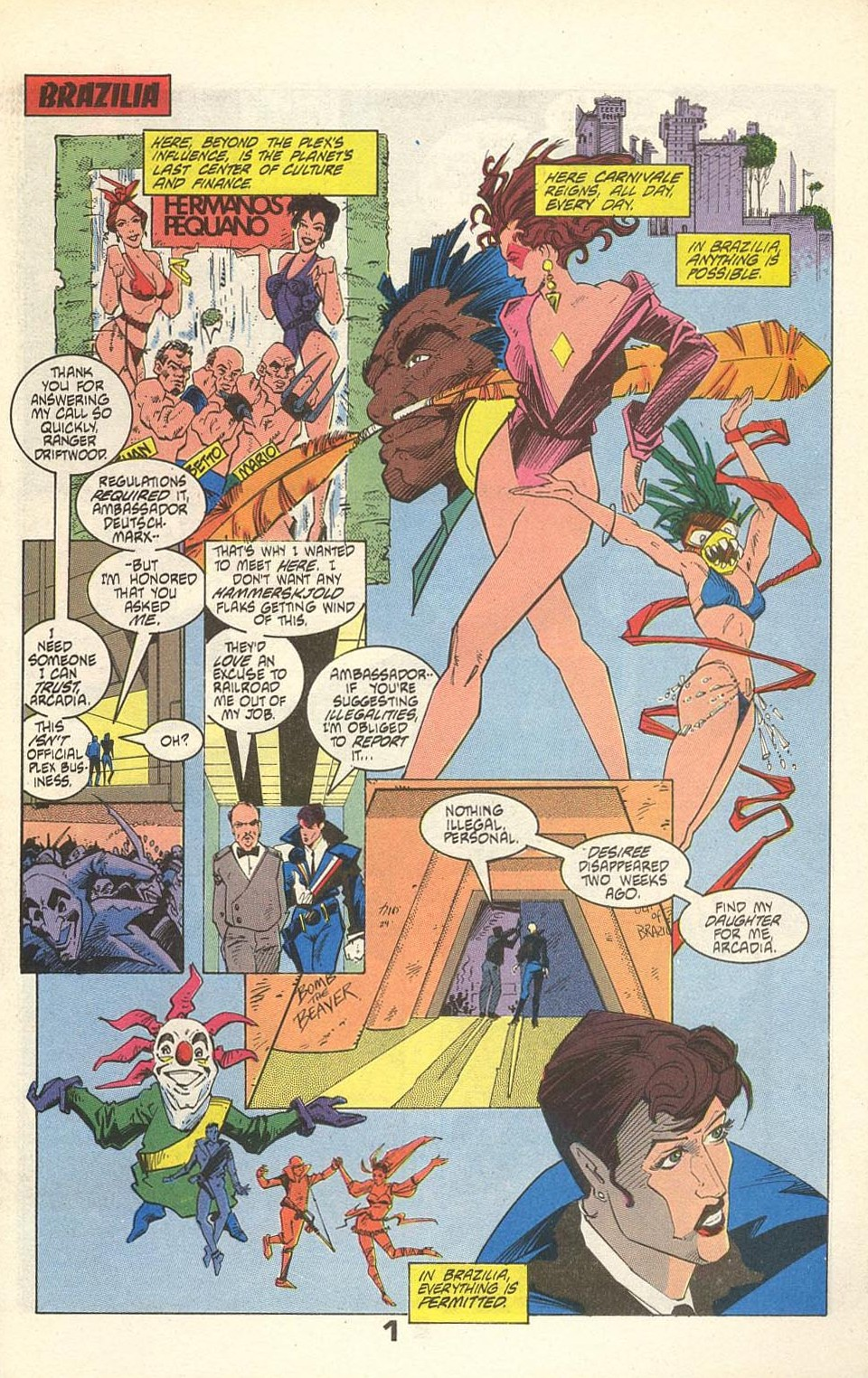 Read online American Flagg! comic -  Issue #31 - 3