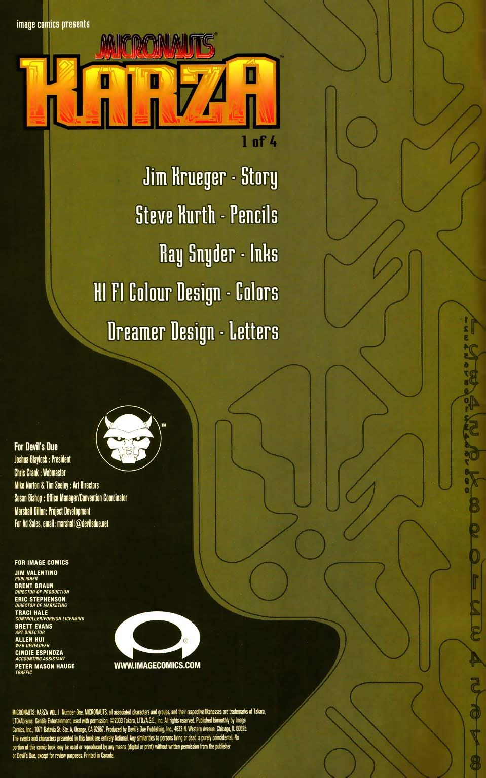 Micronauts: Karza issue 1 - Page 2