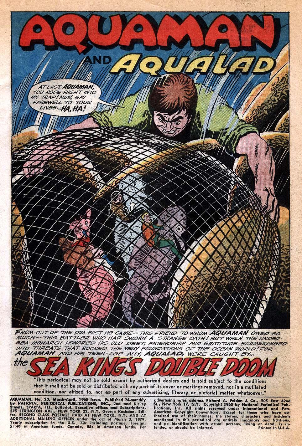 Read online Aquaman (1962) comic -  Issue #20 - 3