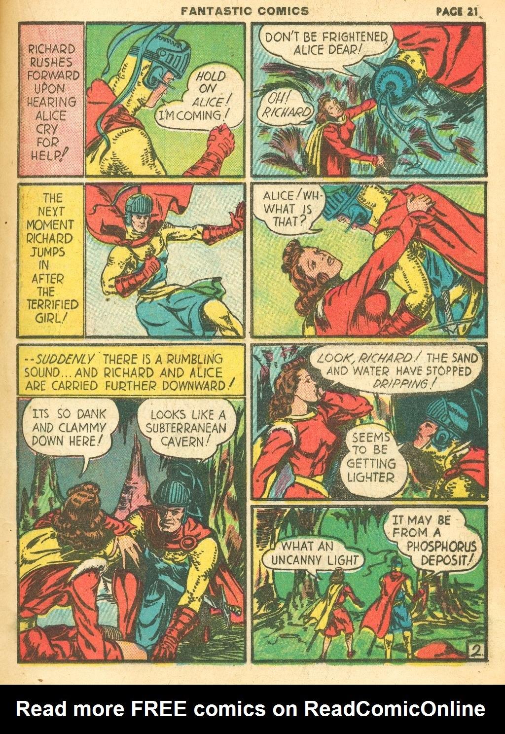 Read online Fantastic Comics comic -  Issue #12 - 23