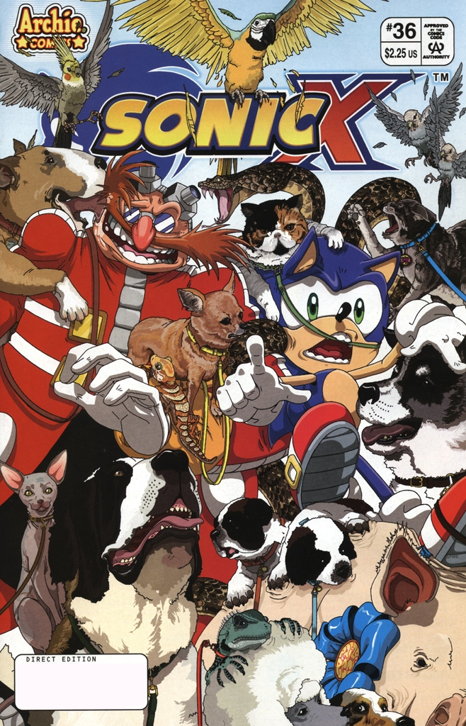 Read online Sonic X comic -  Issue #36 - 1