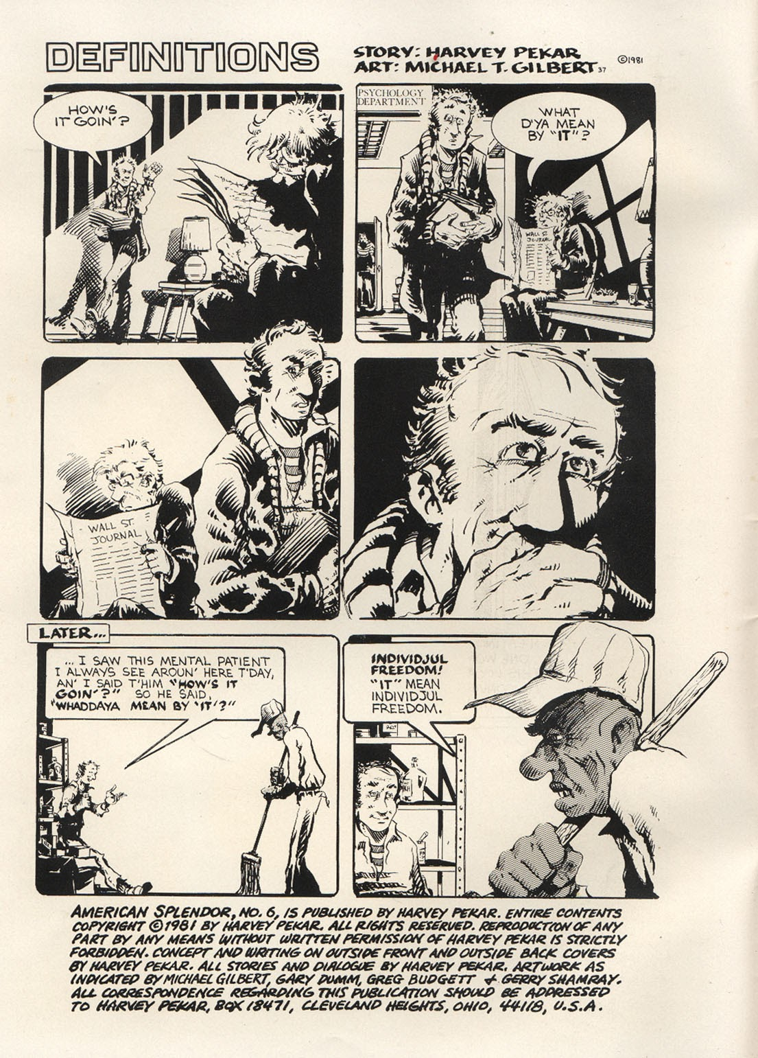 American Splendor (1976) issue 6 - Page 3