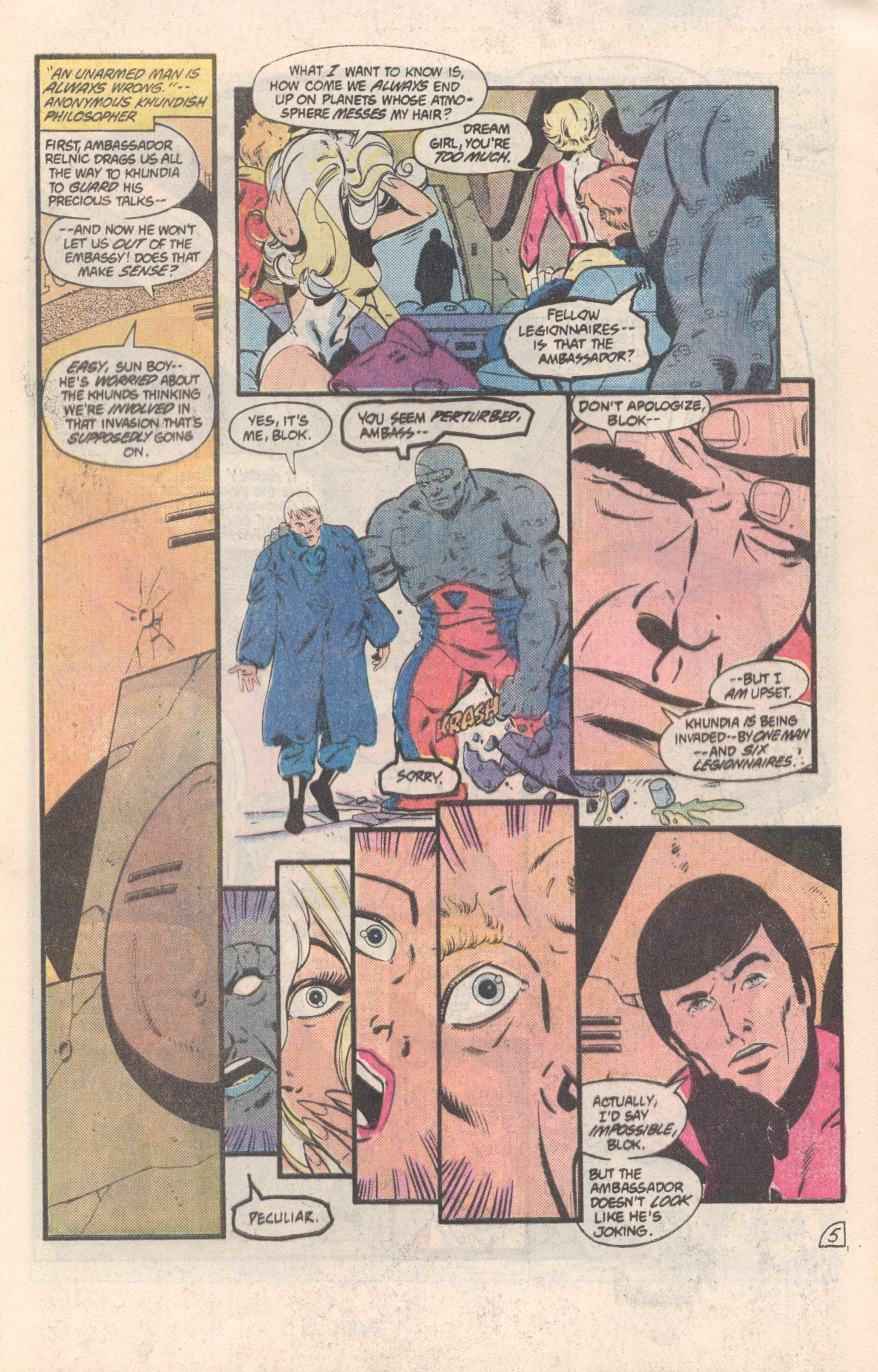 Legion of Super-Heroes (1980) 308 Page 5