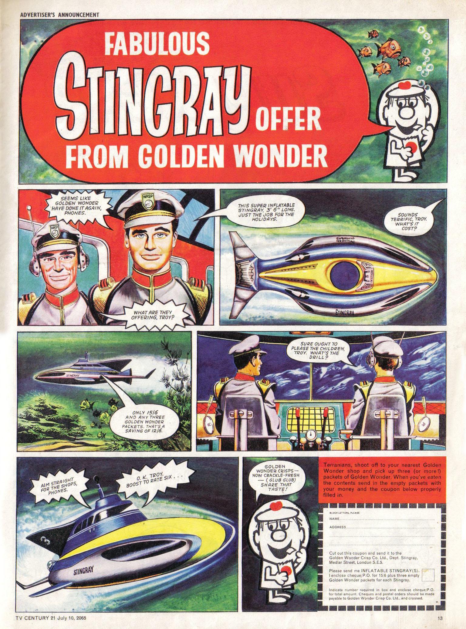 Read online TV Century 21 (TV 21) comic -  Issue #25 - 12