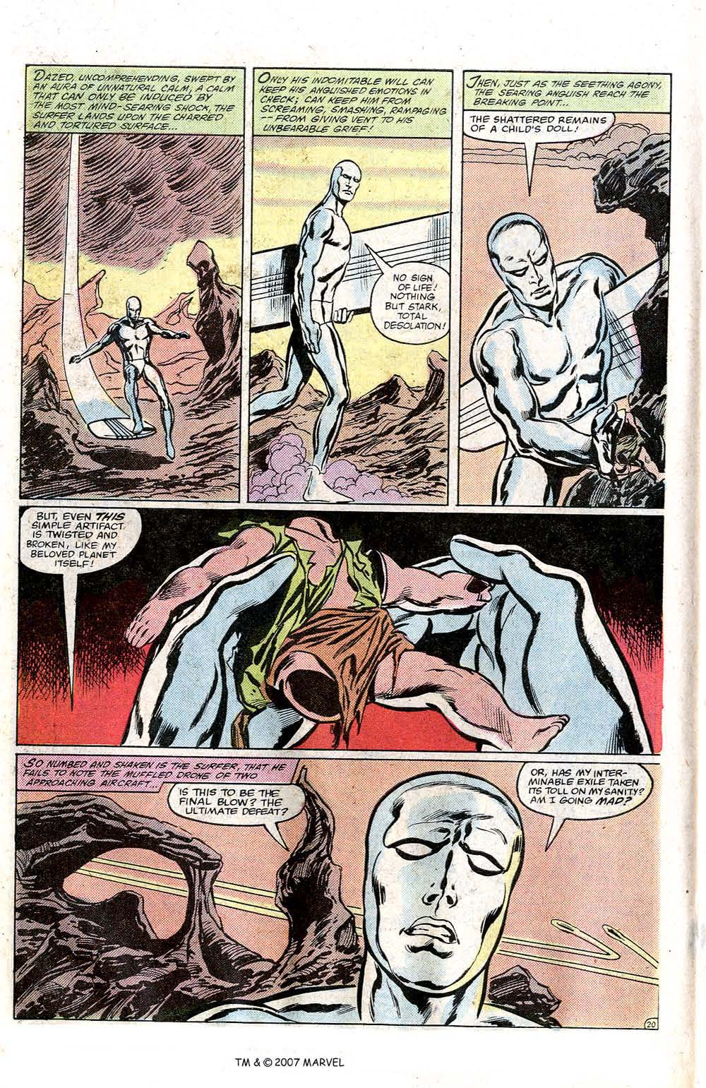Read online Silver Surfer (1982) comic -  Issue # Full - 22