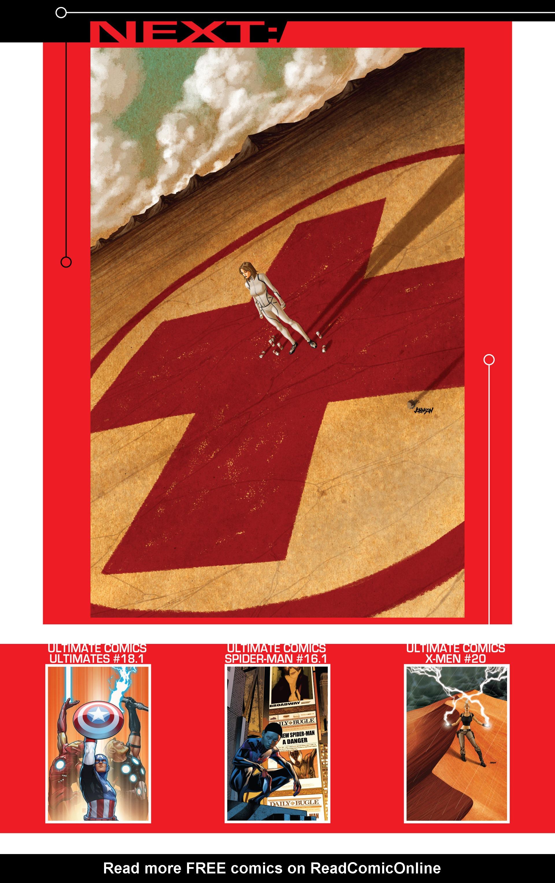 Read online Ultimate Comics X-Men comic -  Issue #18.1 - 22