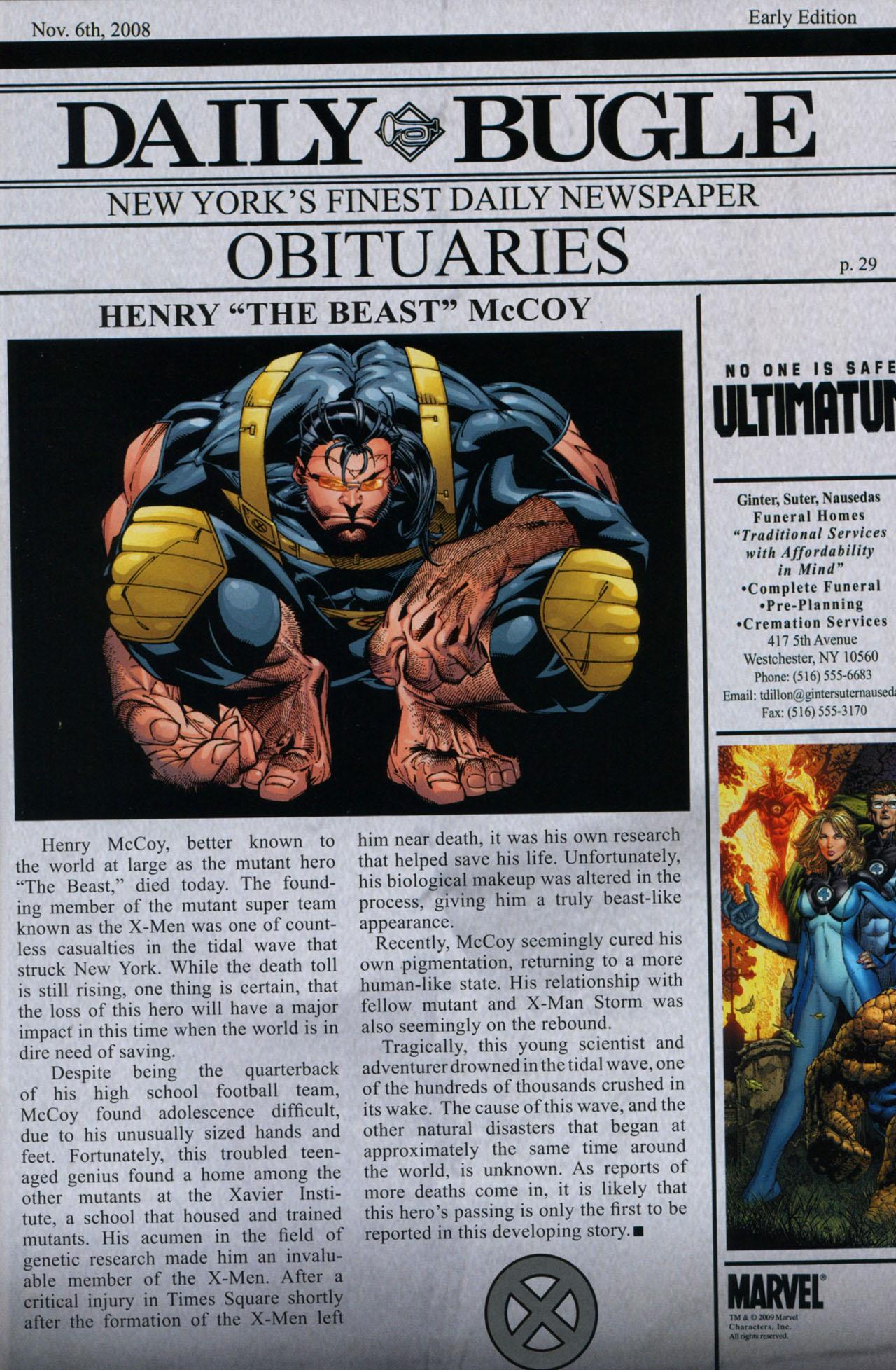 Read online Ultimatum: X-Men Requiem comic -  Issue # Full - 28