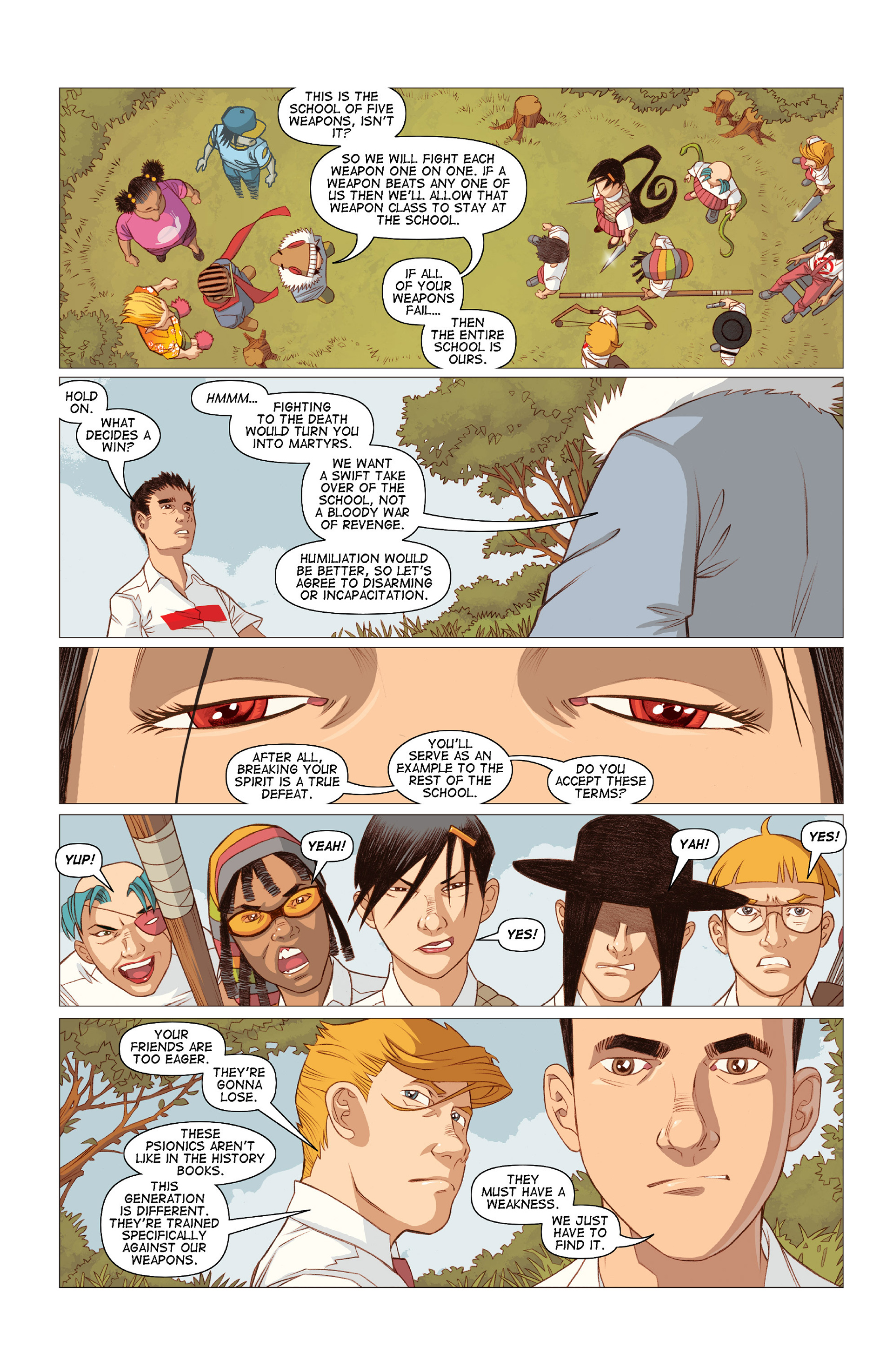 Read online Five Weapons comic -  Issue #10 - 7
