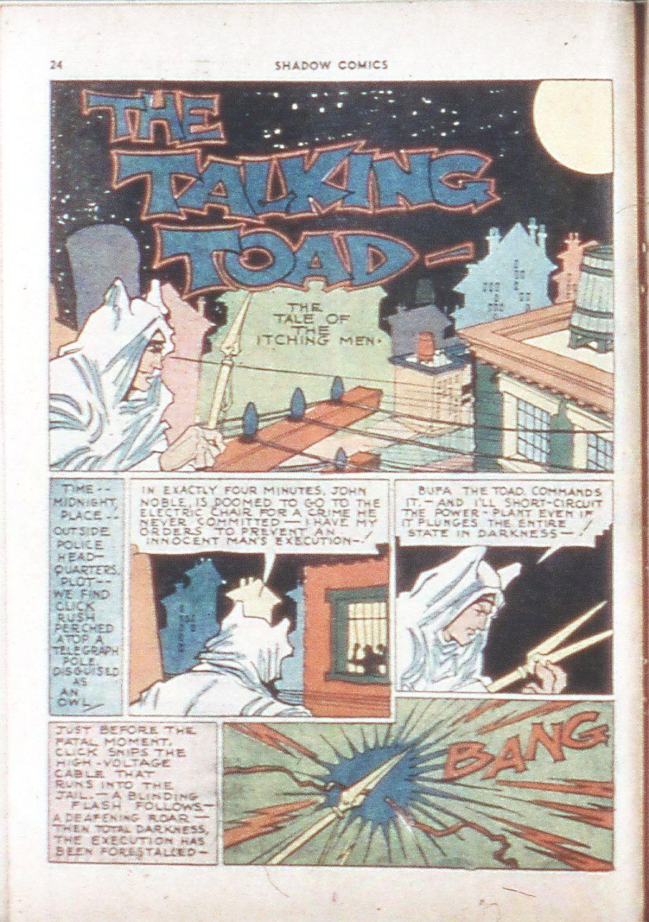 Read online Shadow Comics comic -  Issue #6 - 26