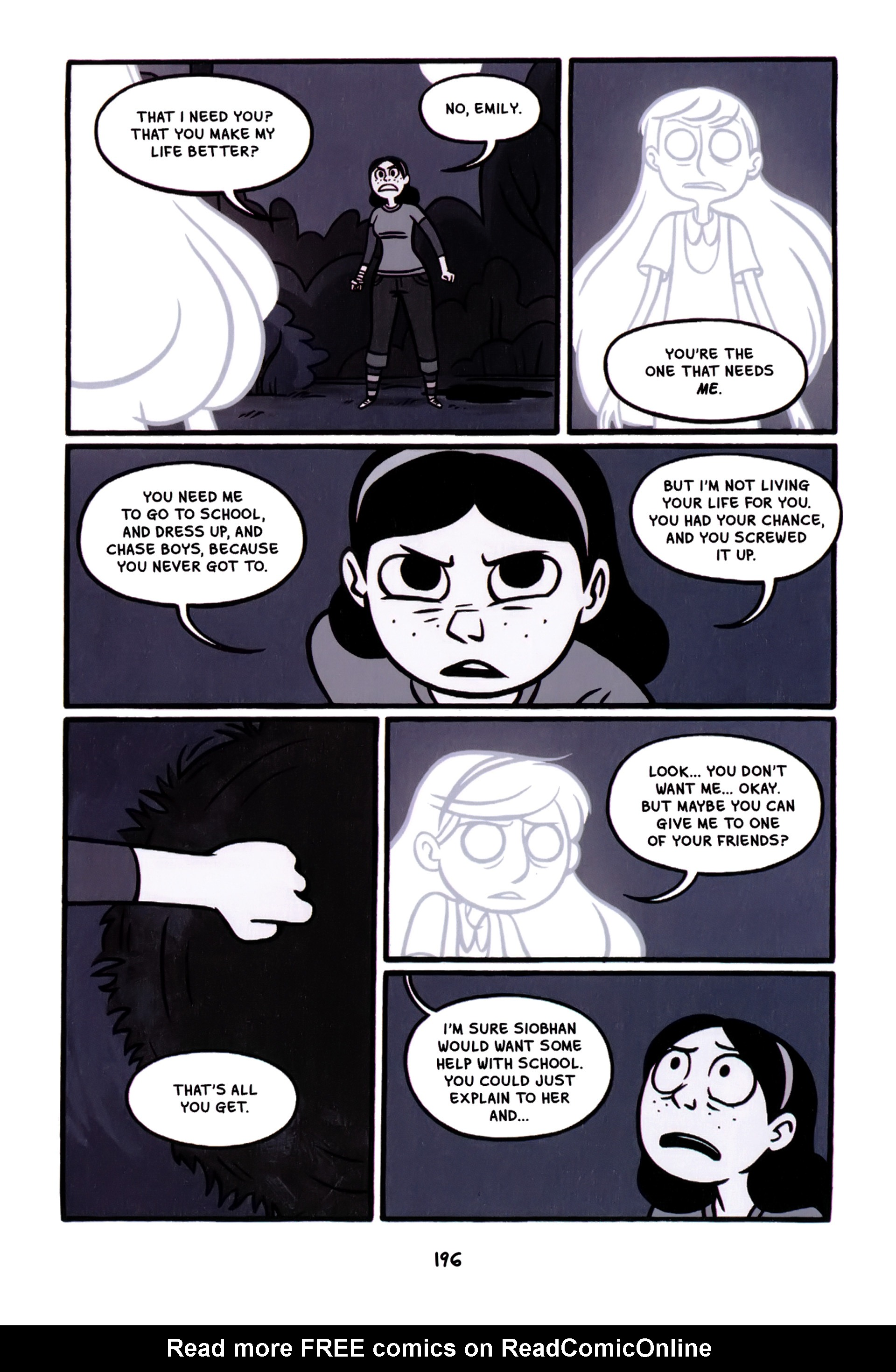 Read online Anya's Ghost comic -  Issue #1 - 197